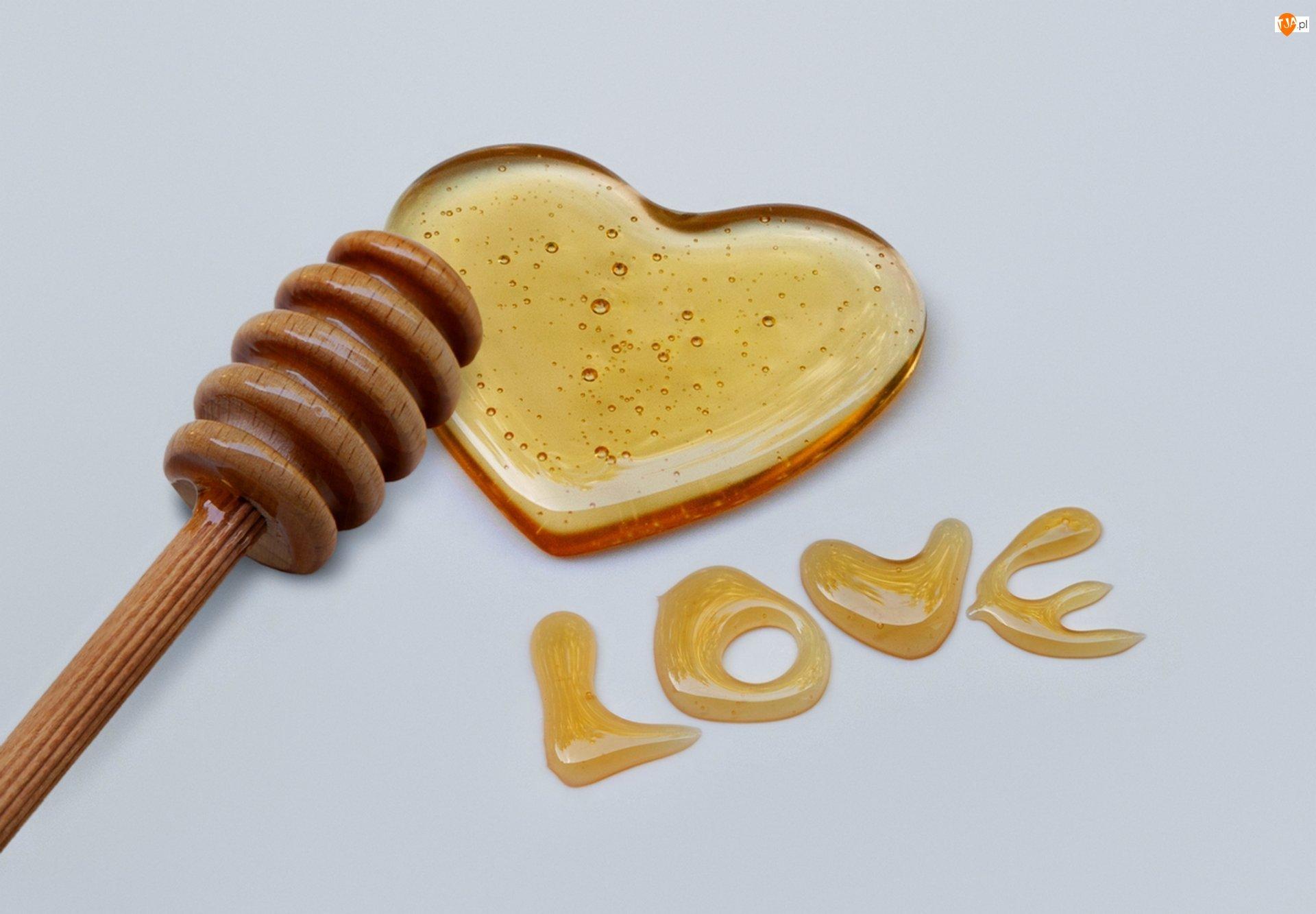 Miód, Love, Serce, Napis