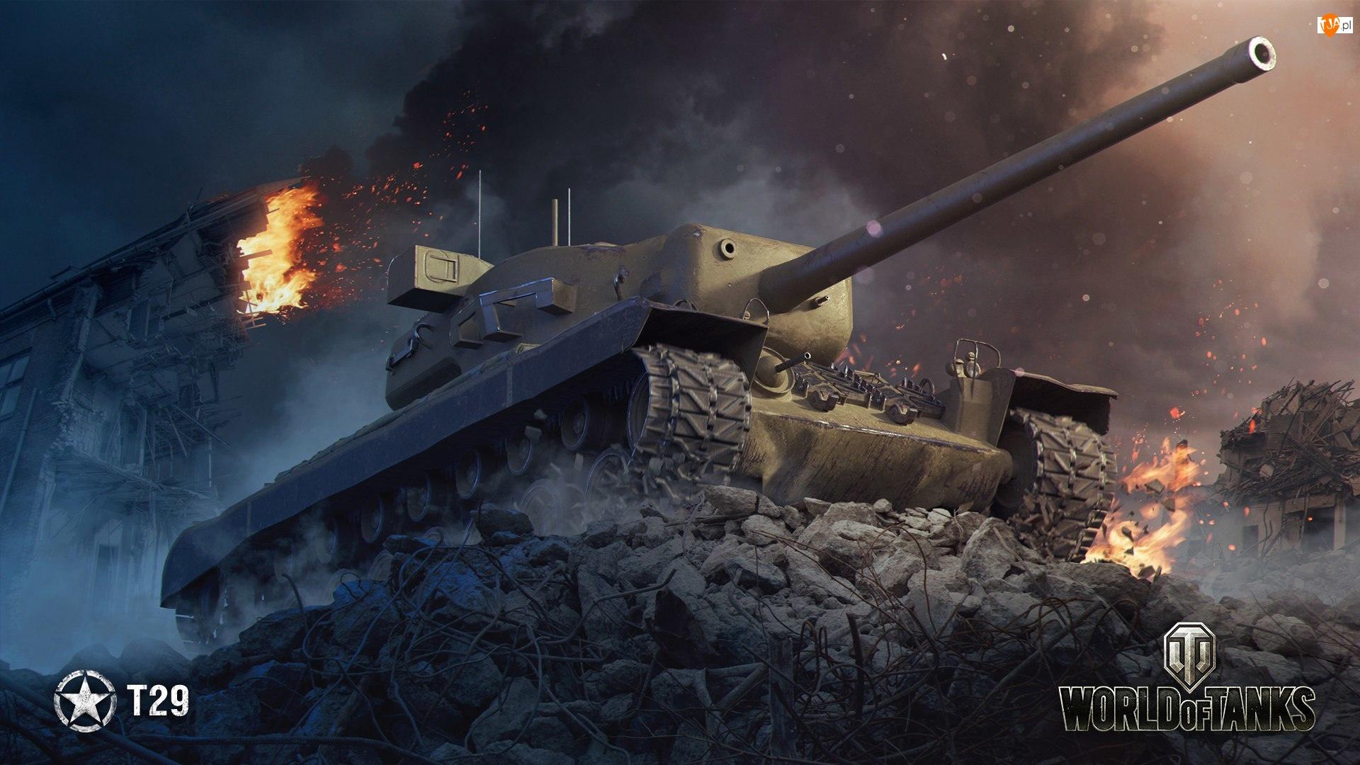 Gra, Ruiny, World of Tanks, Czołg T29