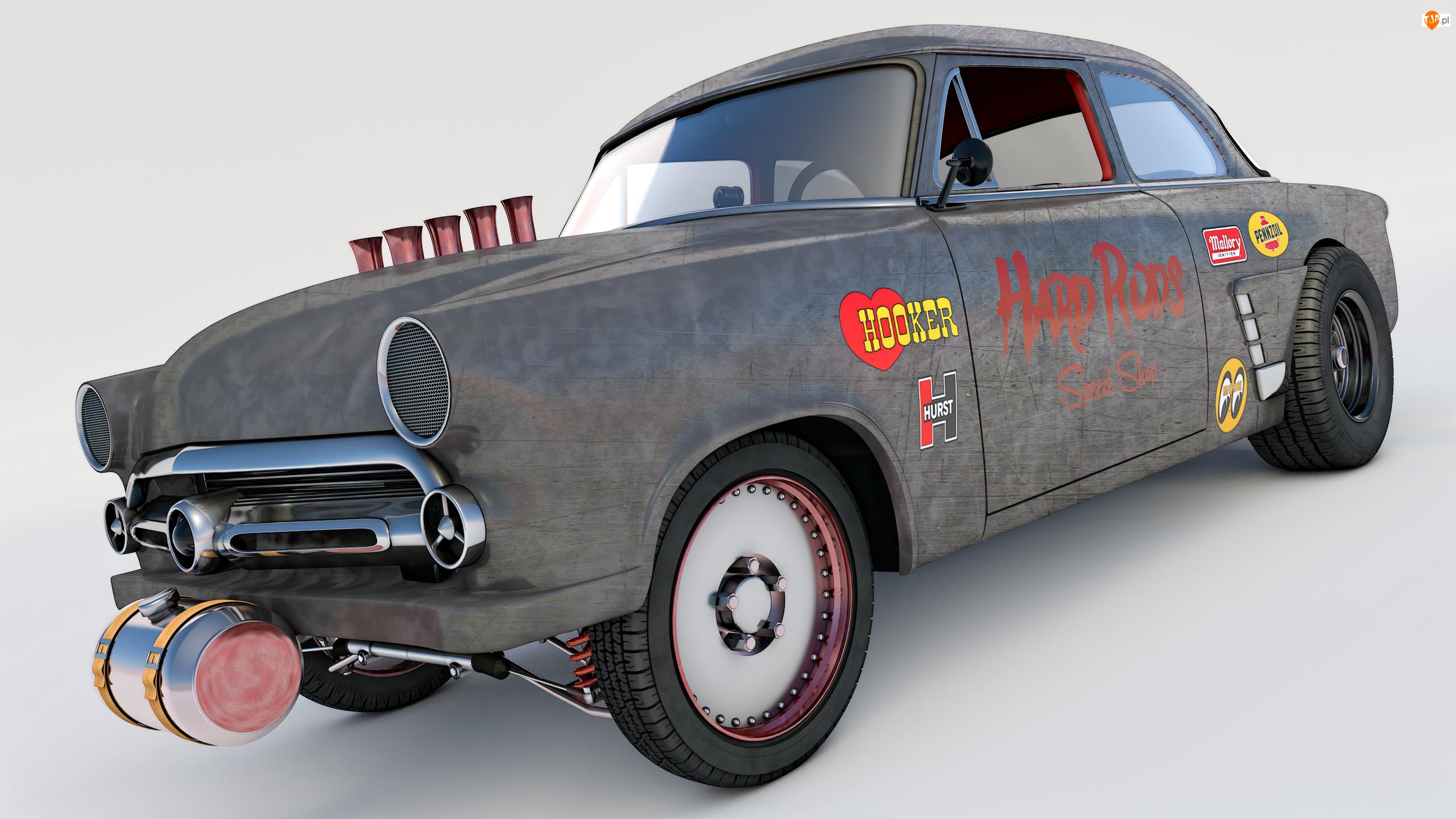 1952, Zabytkowy, Ford Mainline Gasser
