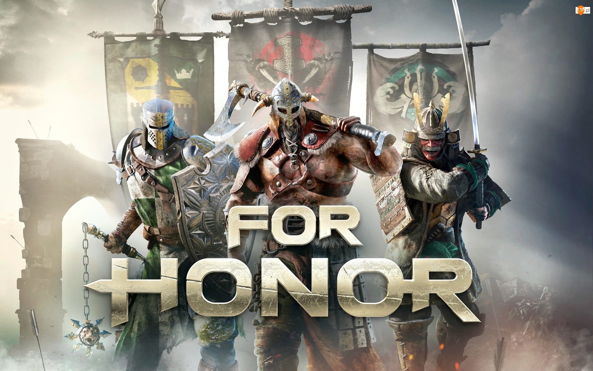 Rycerz, Samuraj, For Honor, Proporce, Gra, Wiking