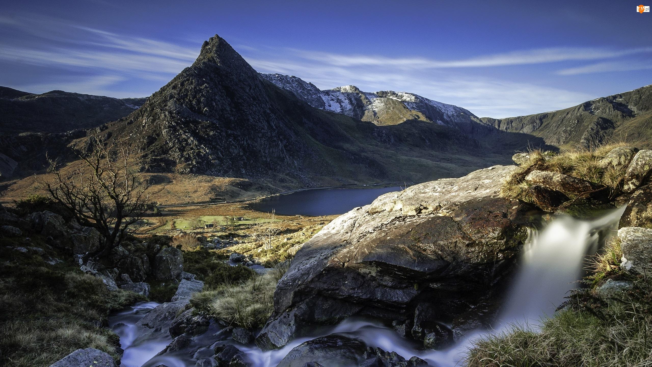 Góry, Rzeka, Wodospad, Jezioro