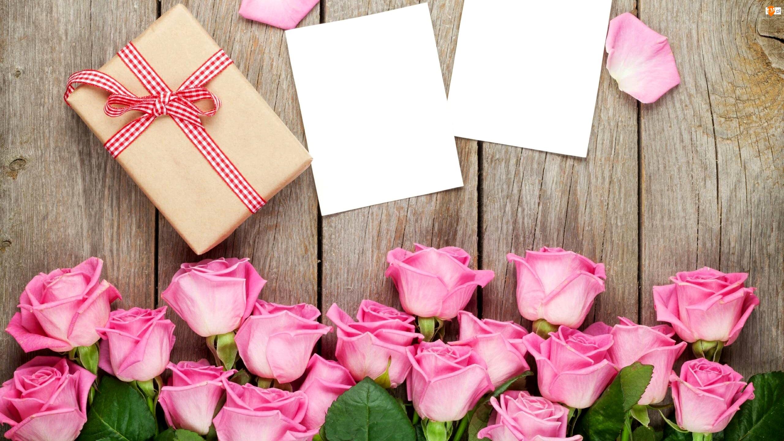 Róże, Kompozycja, Prezent, Kartki