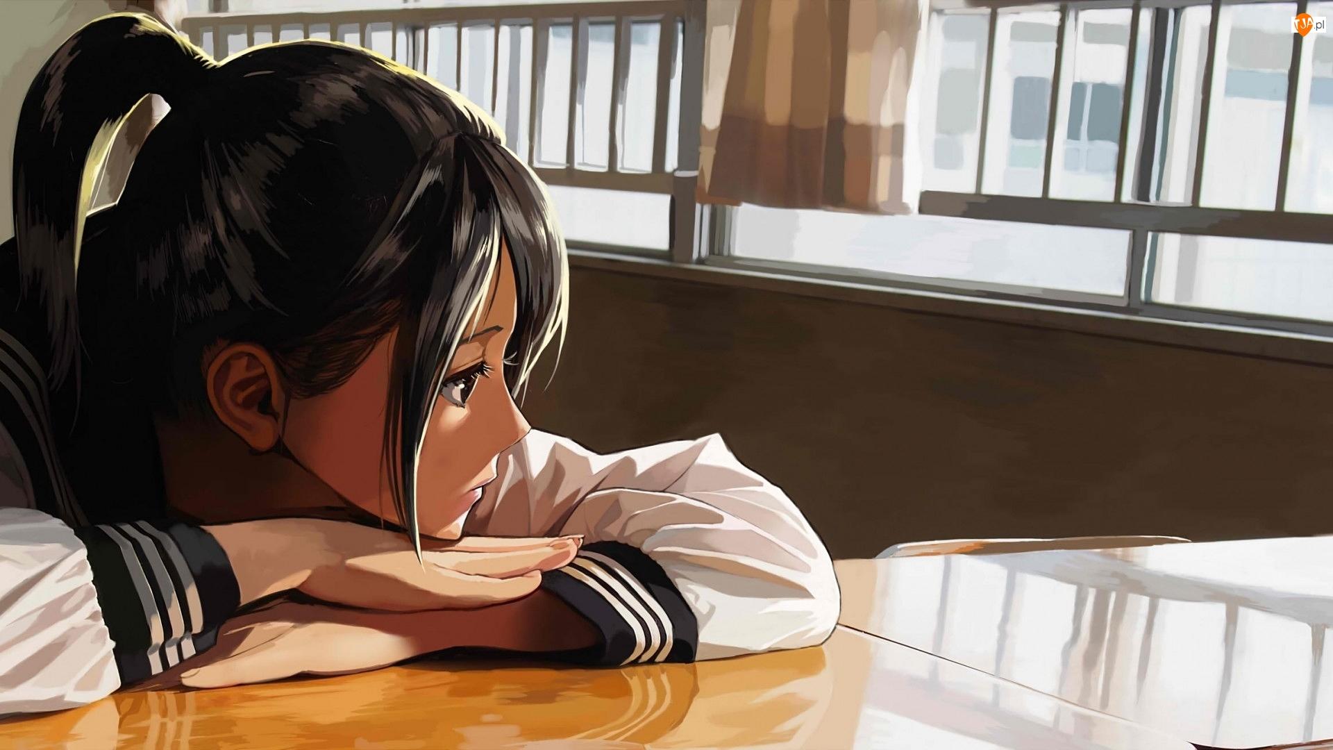 Manga Anime, Dziewczyna, Uczennica