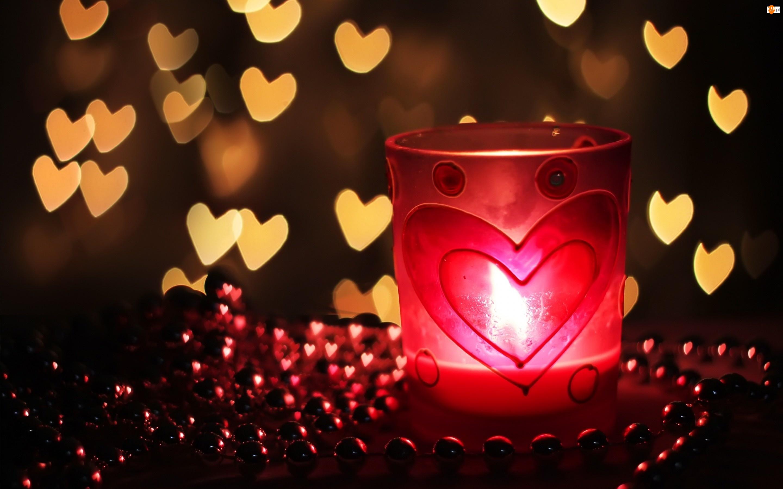 Świeczka, Walentynka, Dekoracja, Miłosne, Świecznik, Serduszka