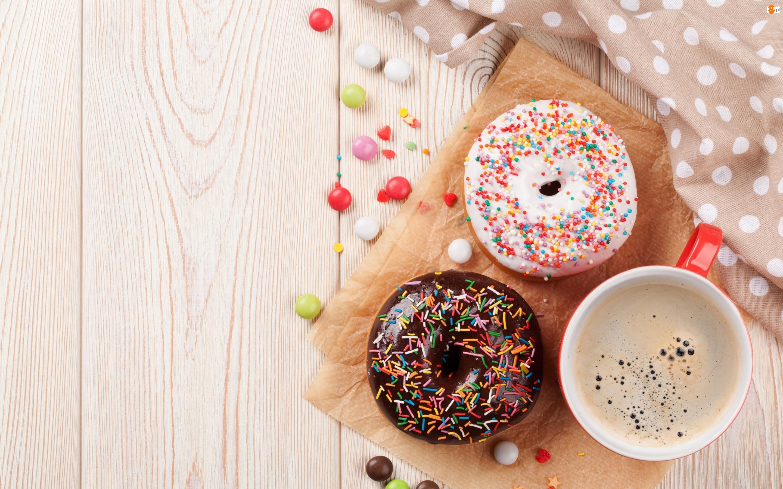 Kawa, Pączki, Donuty