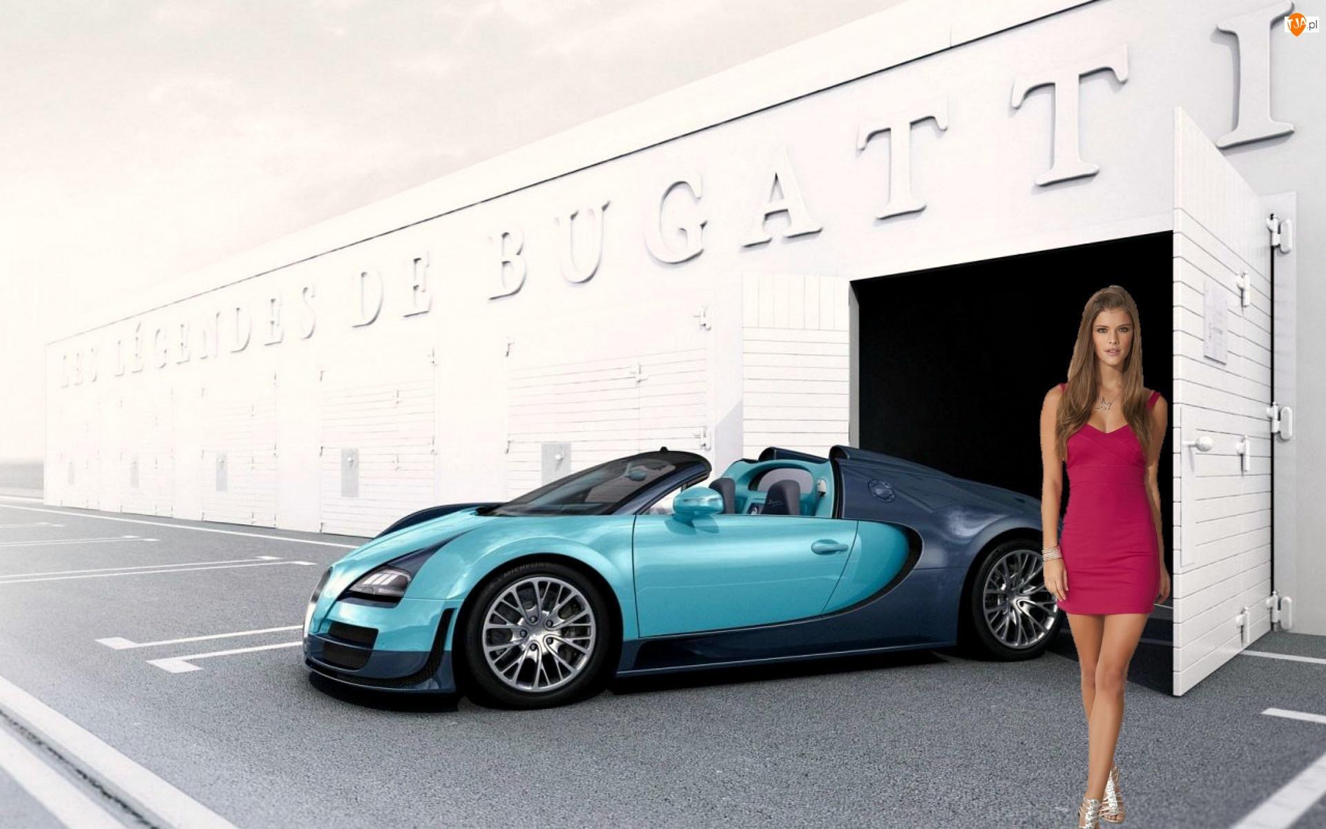 Kobieta, Sportowy, Modelka, Bugatti Veyron