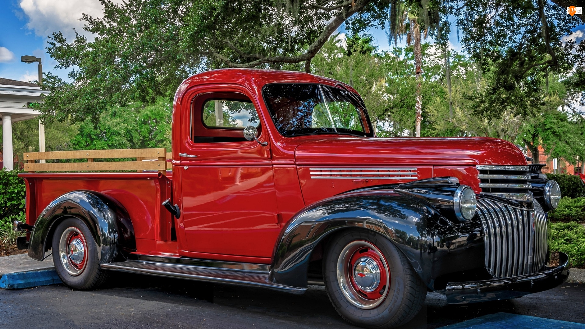 Zabytkowy, 1946, Czerwony, Chevrolet Pickup