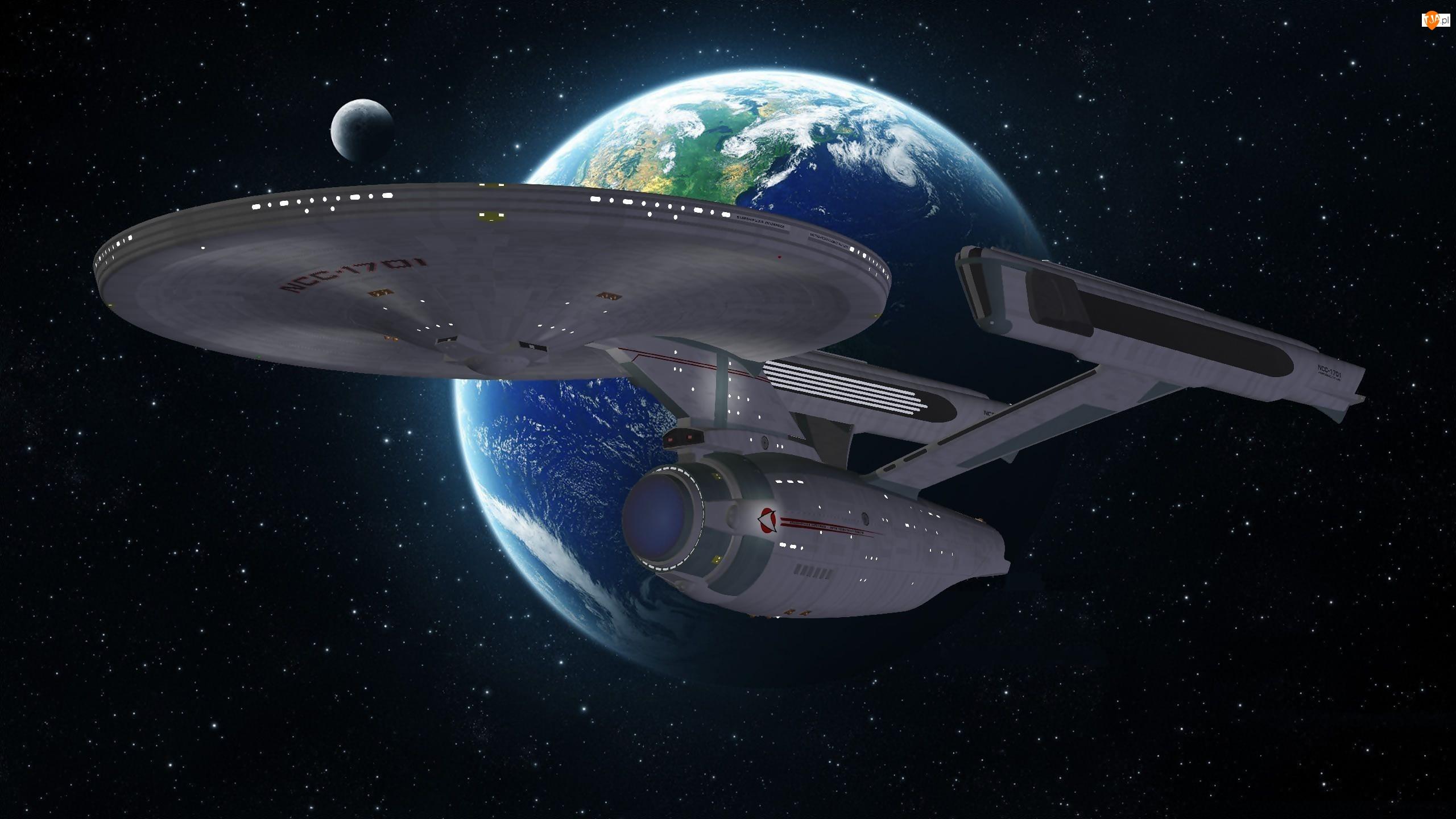 Ziemia, Kosmos, Serial, Gwiazdy, Star Trek, Statek kosmiczny Enterprise NCC-1701