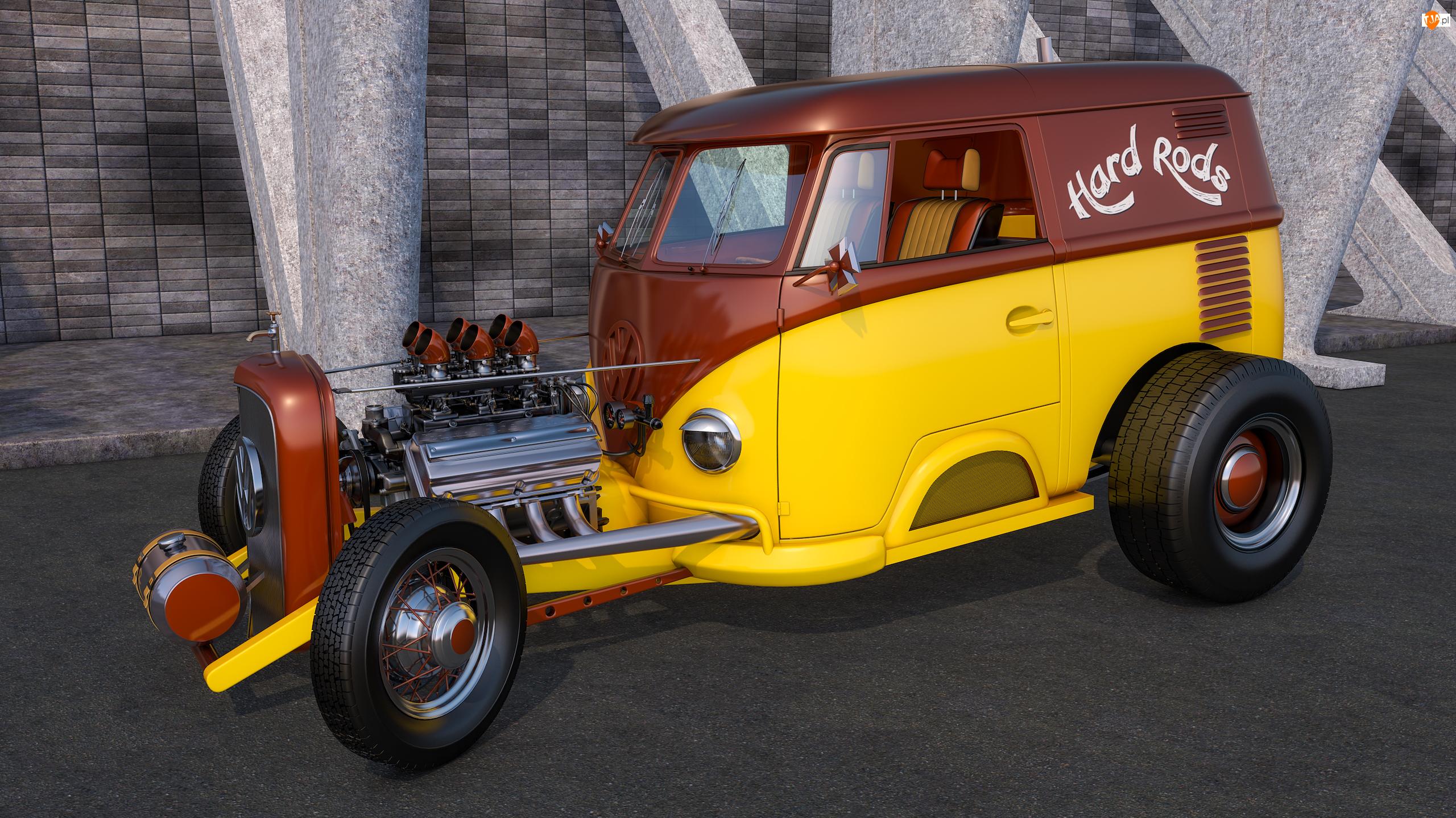 1950, Zabytkowy, Volkswagen T1 Rod
