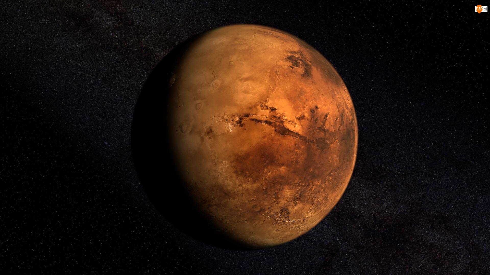 Kosmos, Mars, Czerwona, Planeta