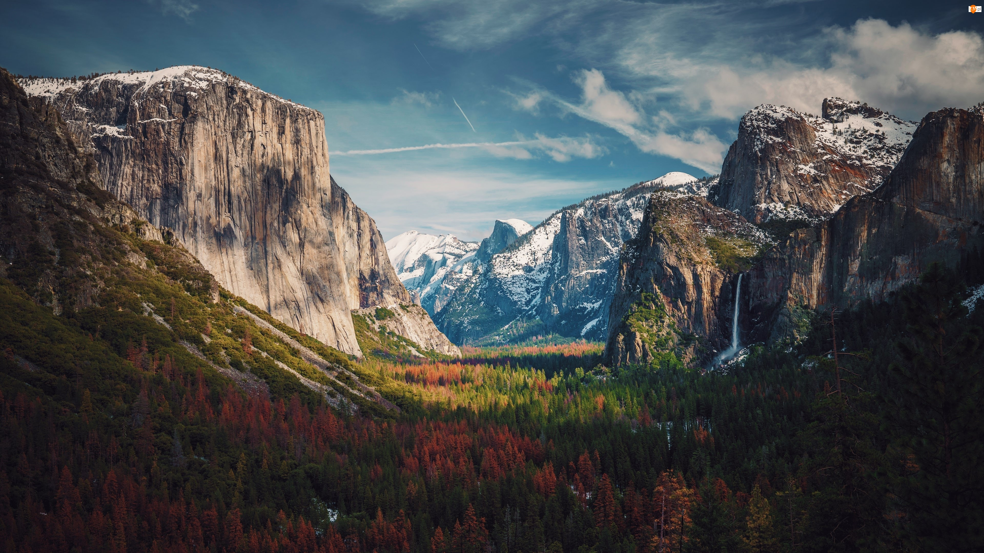 Góry, Stany Zjednoczone, Park Narodowy Yosemite, Stan Kalifornia, Dolina Yosemite Valley