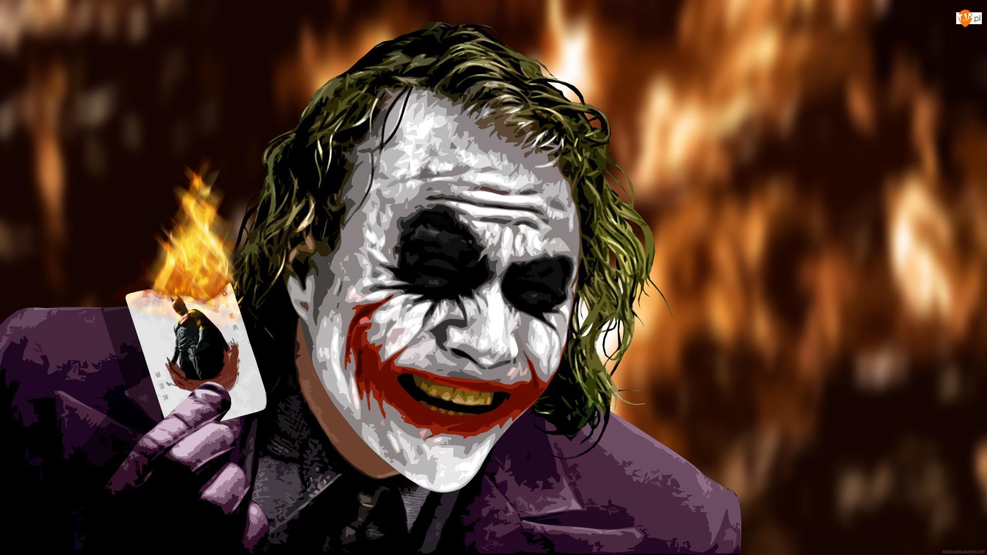 Joker, Grafika, Batman Dark Knight, Film, Mroczny rycerz