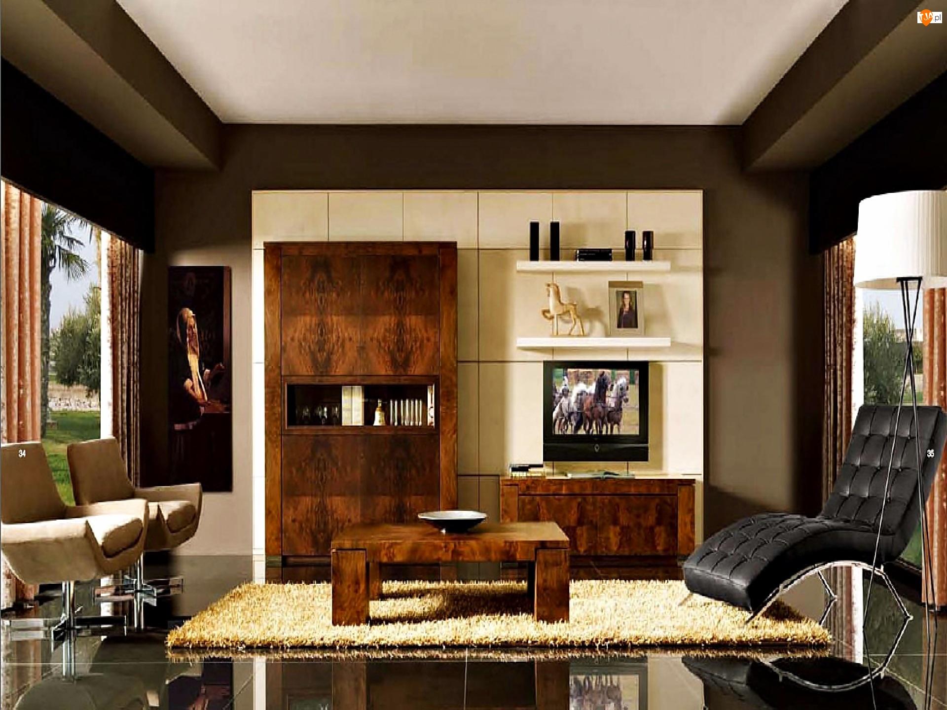 Telewizor, Pokój, Fotele
