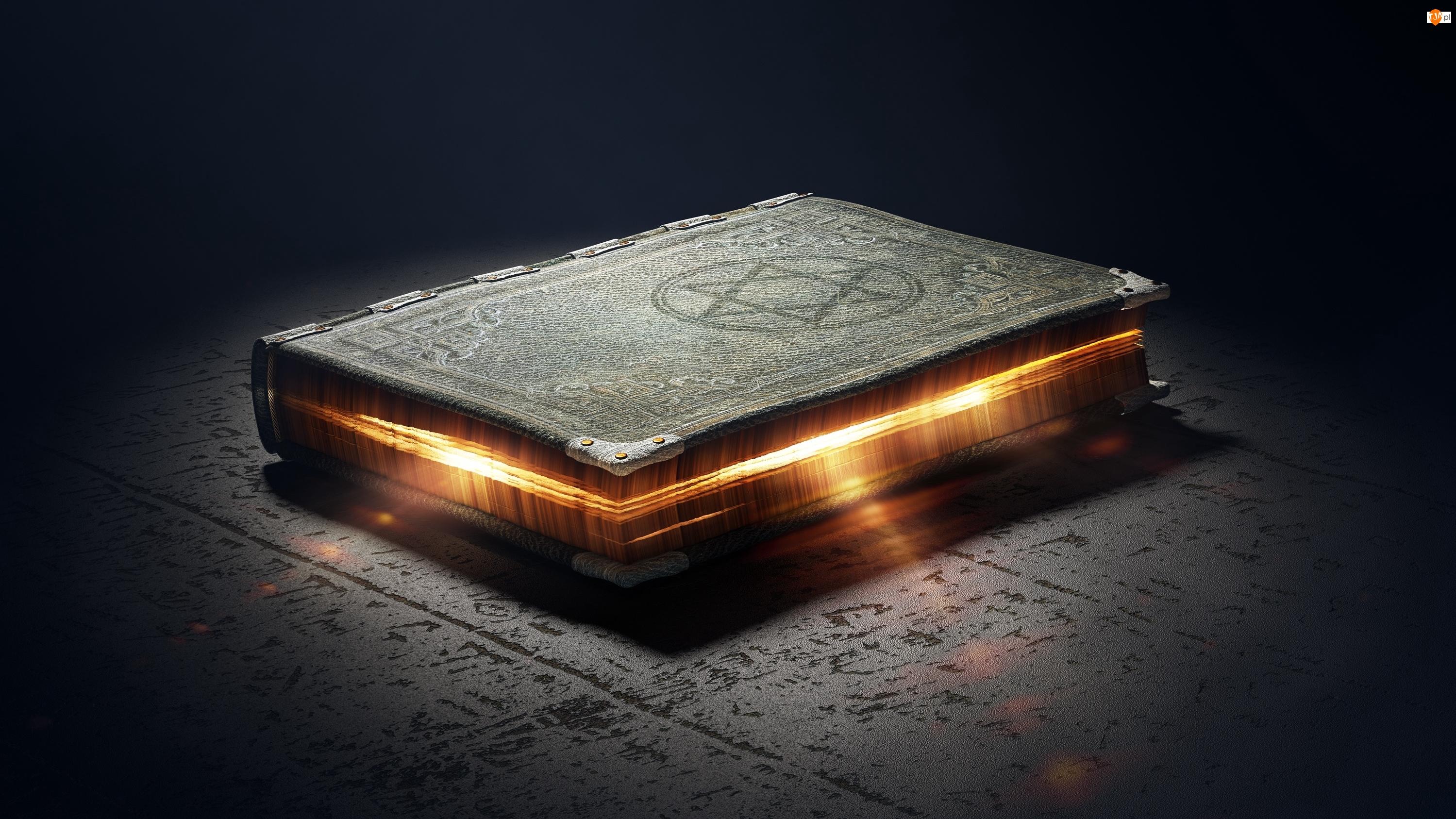 Odblask, Magiczna, Symbol, Księga, Magia