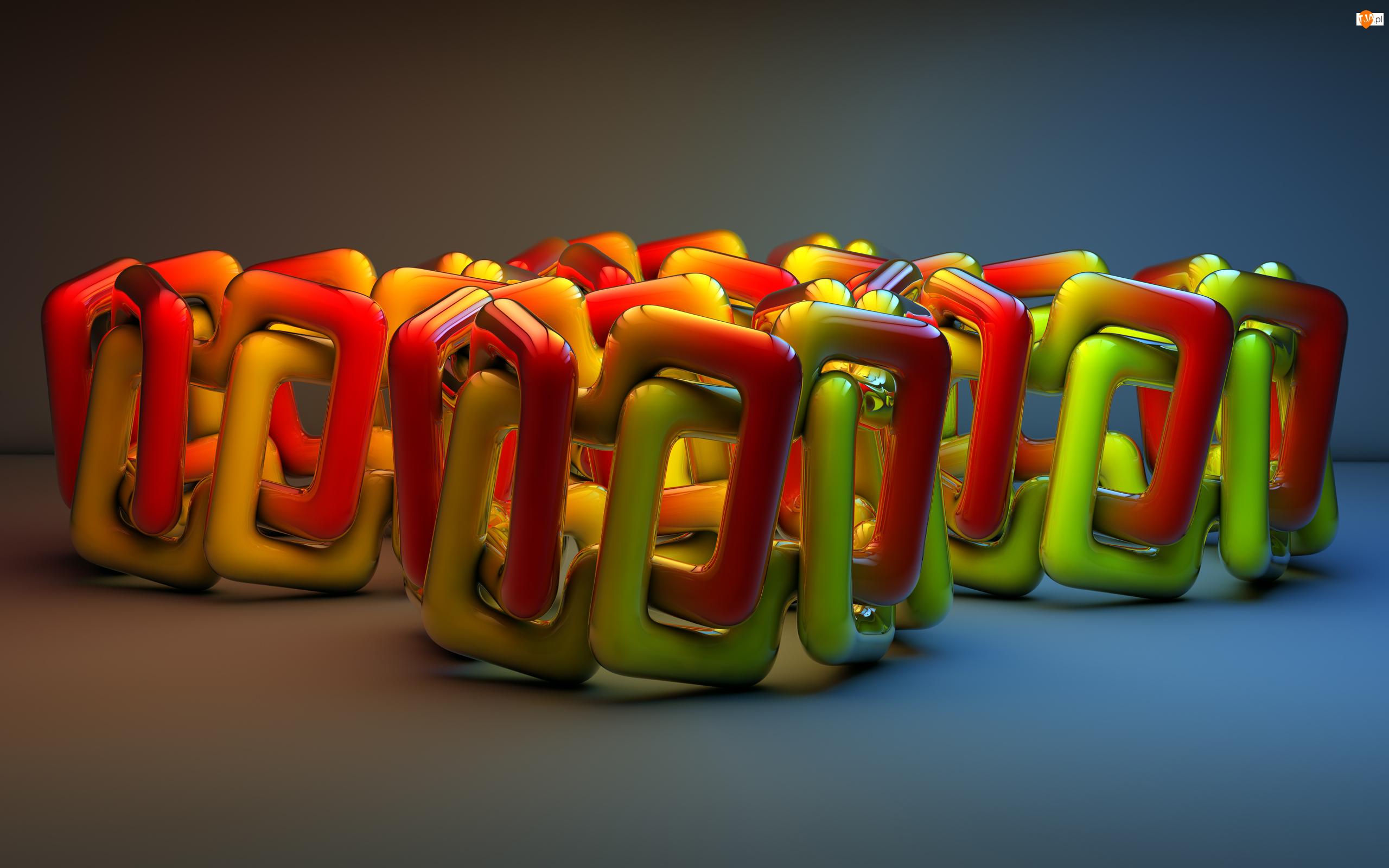 Splot, Grafika 3D, Kolorowy