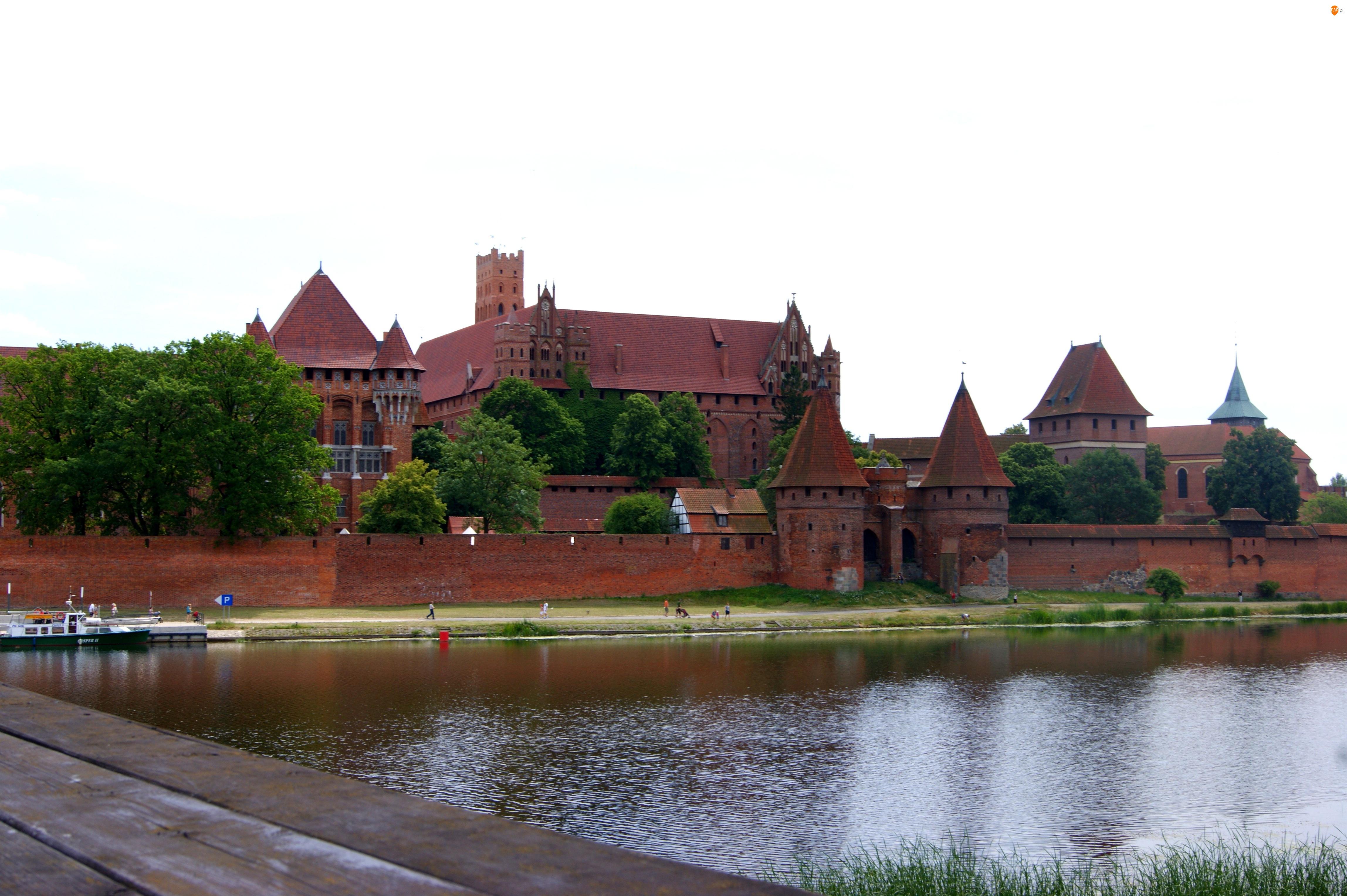 Polska, Rzeka Wisła, Malbork, Zamek w Malborku