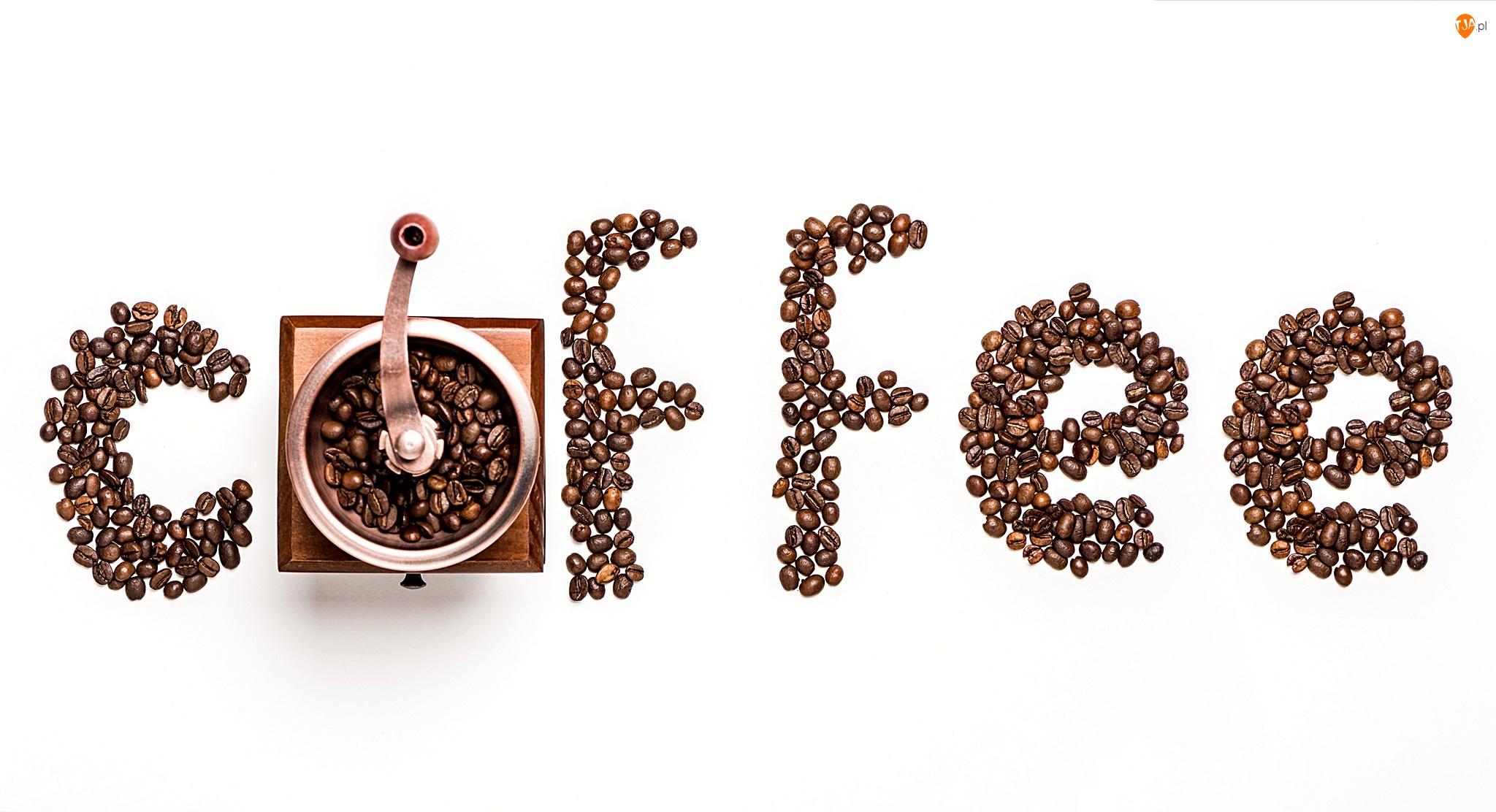 Kawa, Napis, Ziarna, Młynek