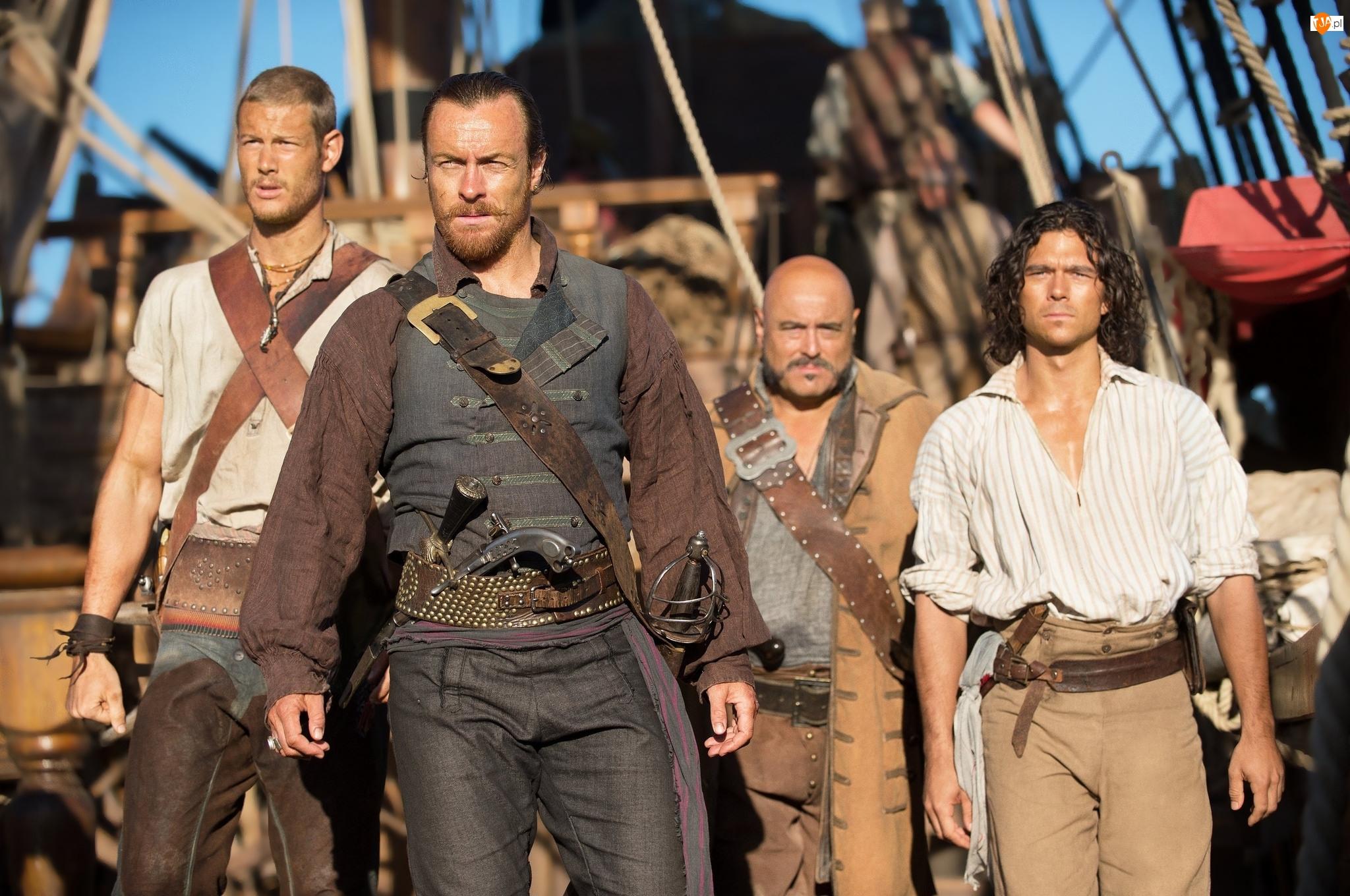 Tom Hopper, Kapitan Flint, Billy Bones, Black Sails, Toby Stephens, Serial, Długi John Silver, Piraci, Luke Arnold