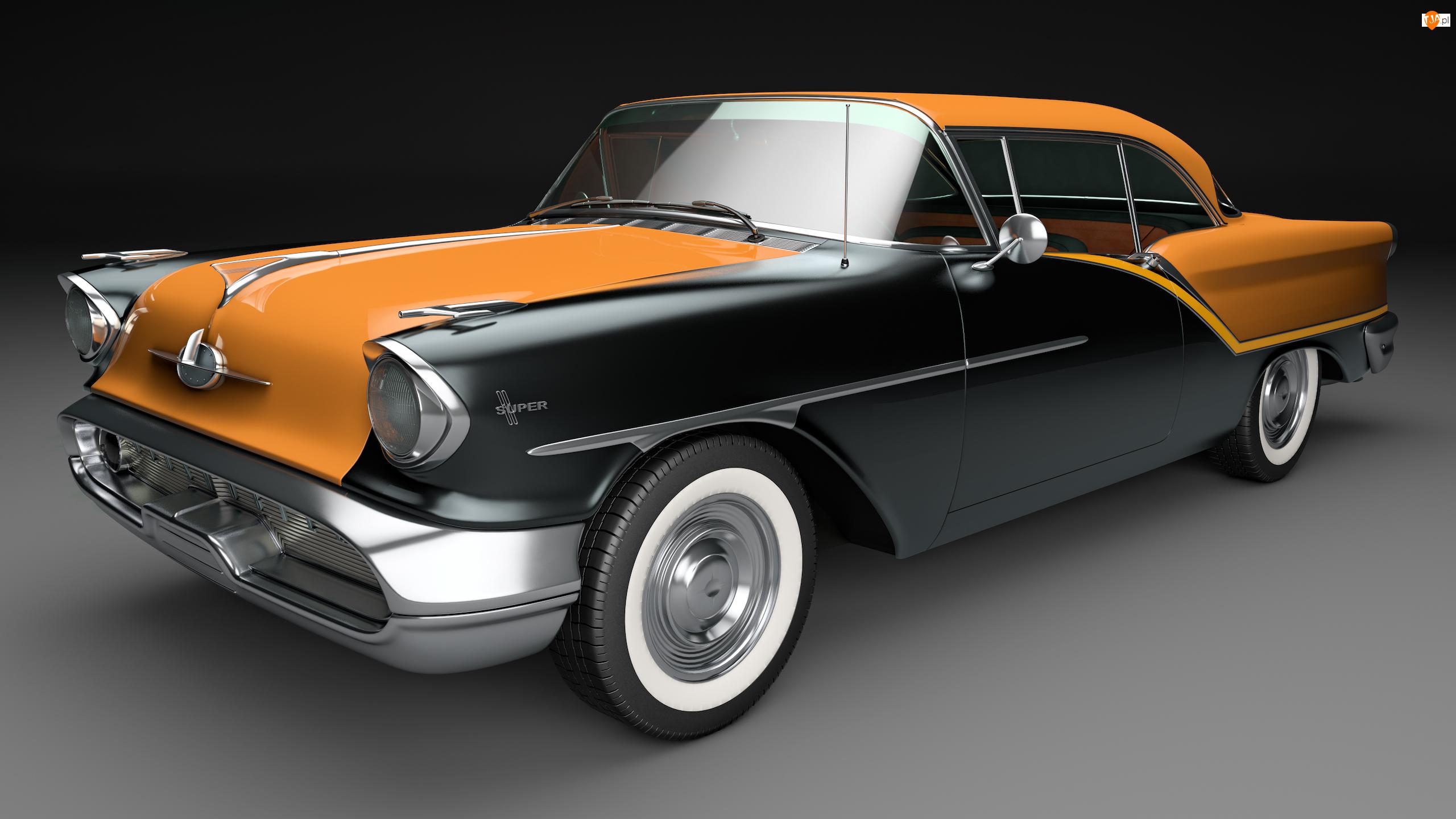 1957, Zabytkowy, Oldsmobile 88 Coupe