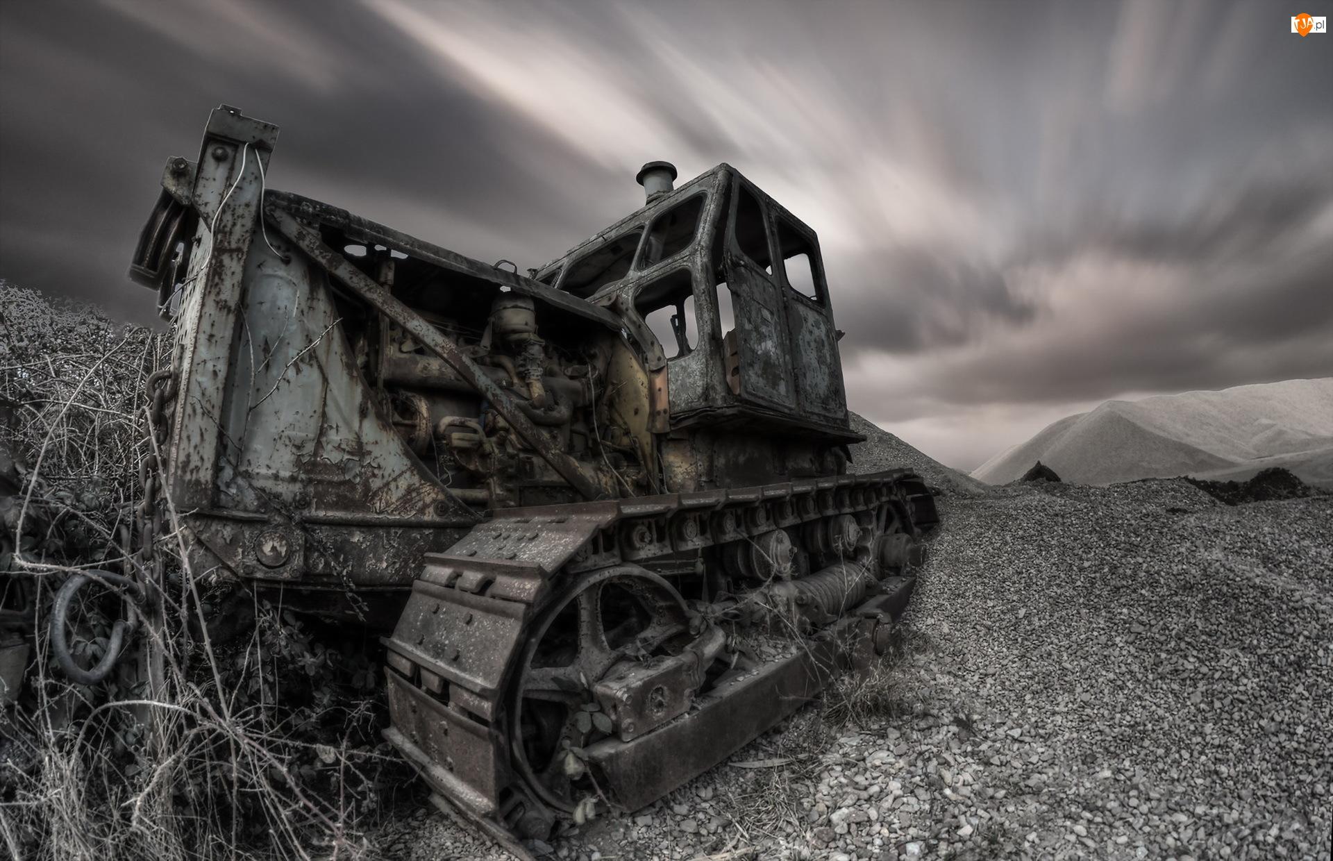 Traktor, Stary, Zniszczony