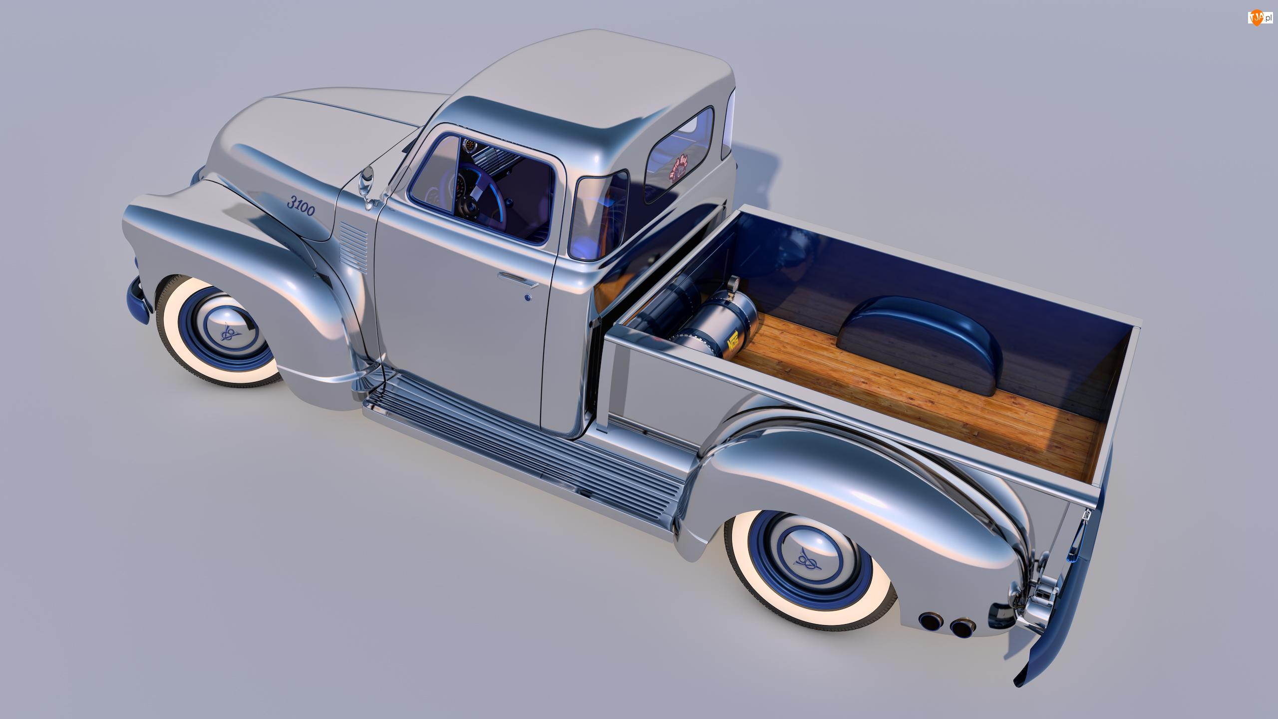 1954, Zabytkowy, Chevrolet 3100 Pickup