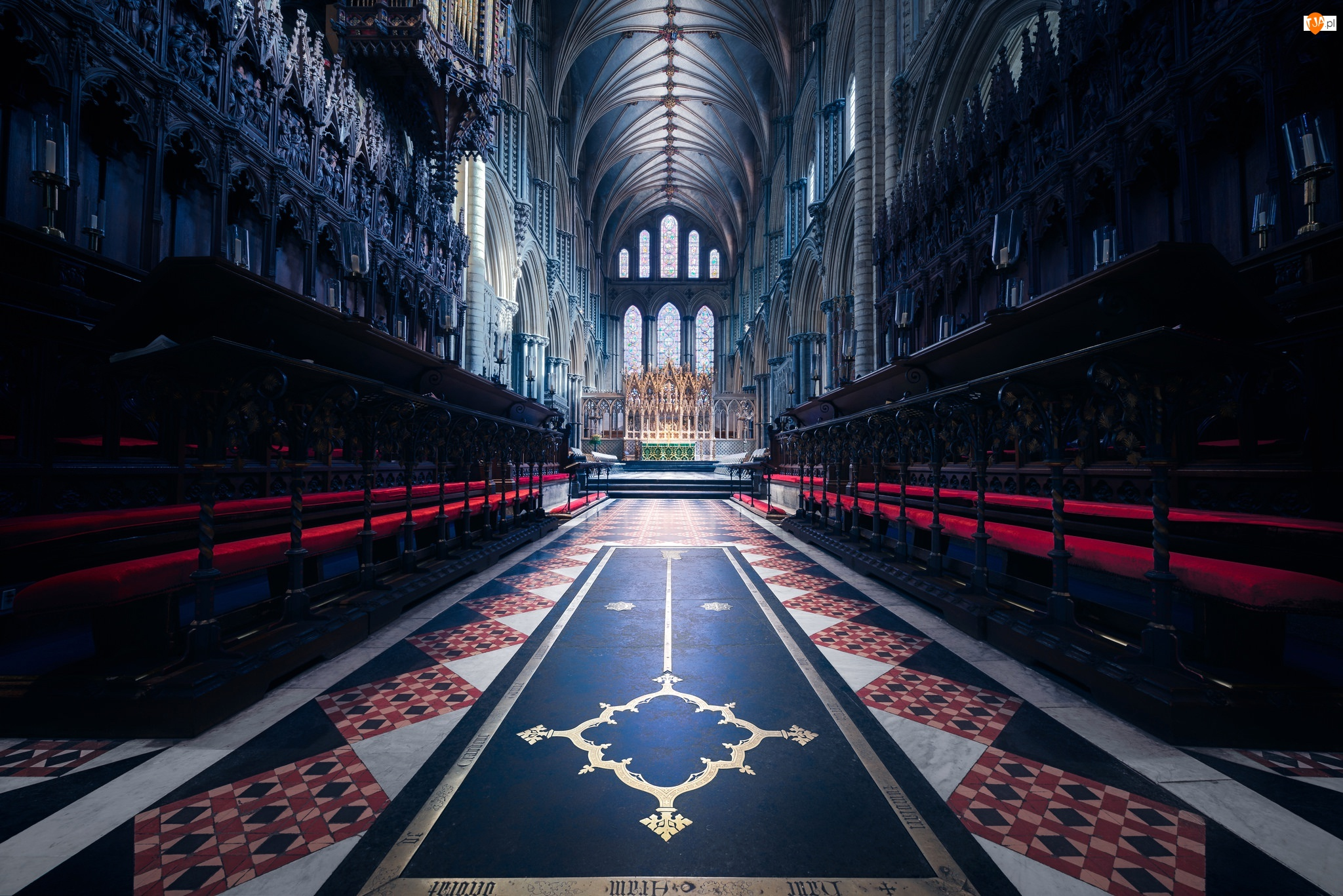 Kościół Katedralny Świętej i Niepodzielnej Trójcy, Ołtarz, Anglia, Nawa, Ely, Katedra