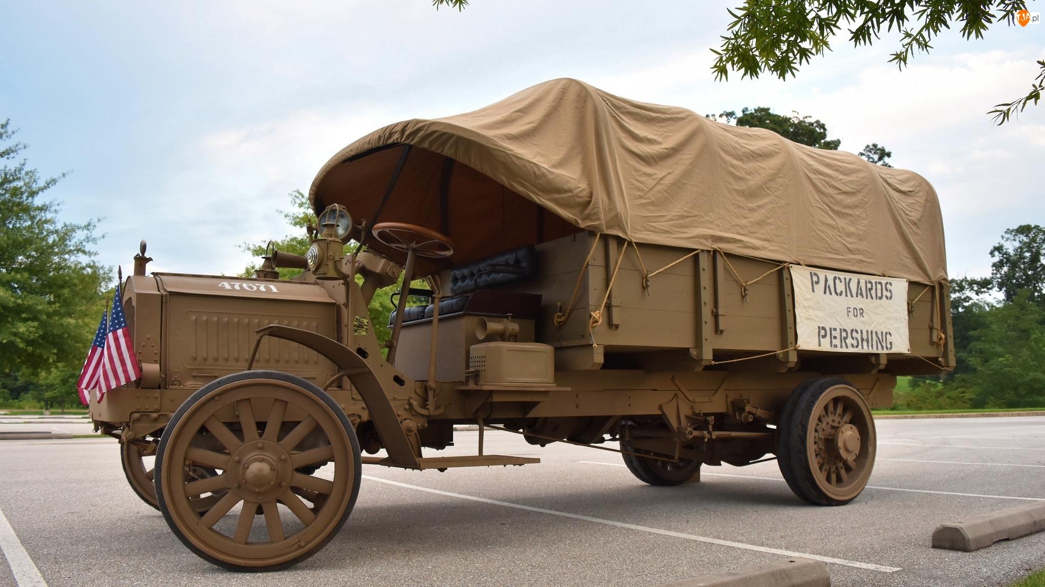 Zabytkowy, 1918, Wojskowy, Packard Army Truck