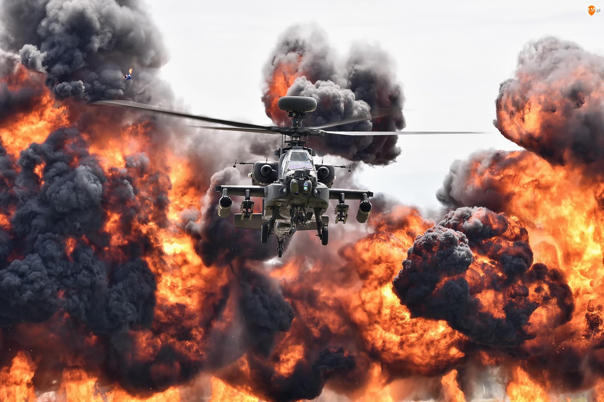 Śmigłowiec szturmowy Bell AH-1 Cobra, Ogień, Wybuch, Dym