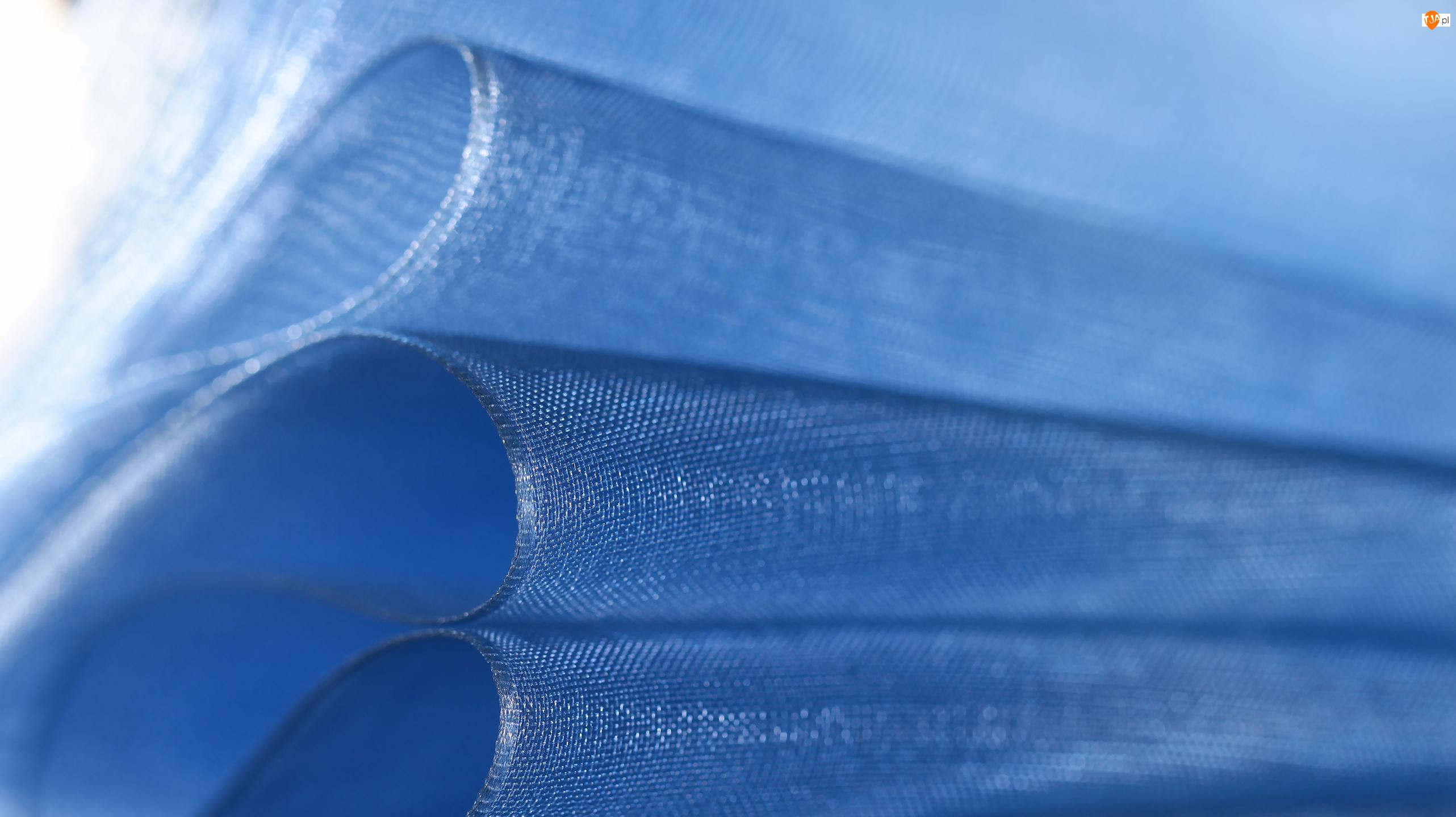 Makro, Niebieska, Wstążka