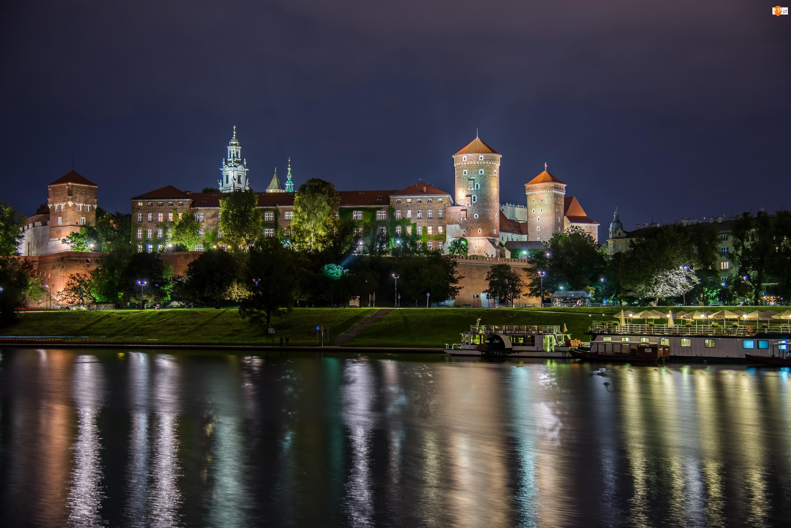 Polska, Rzeka Wisła, Kraków, Zamek Królewski na Wawelu