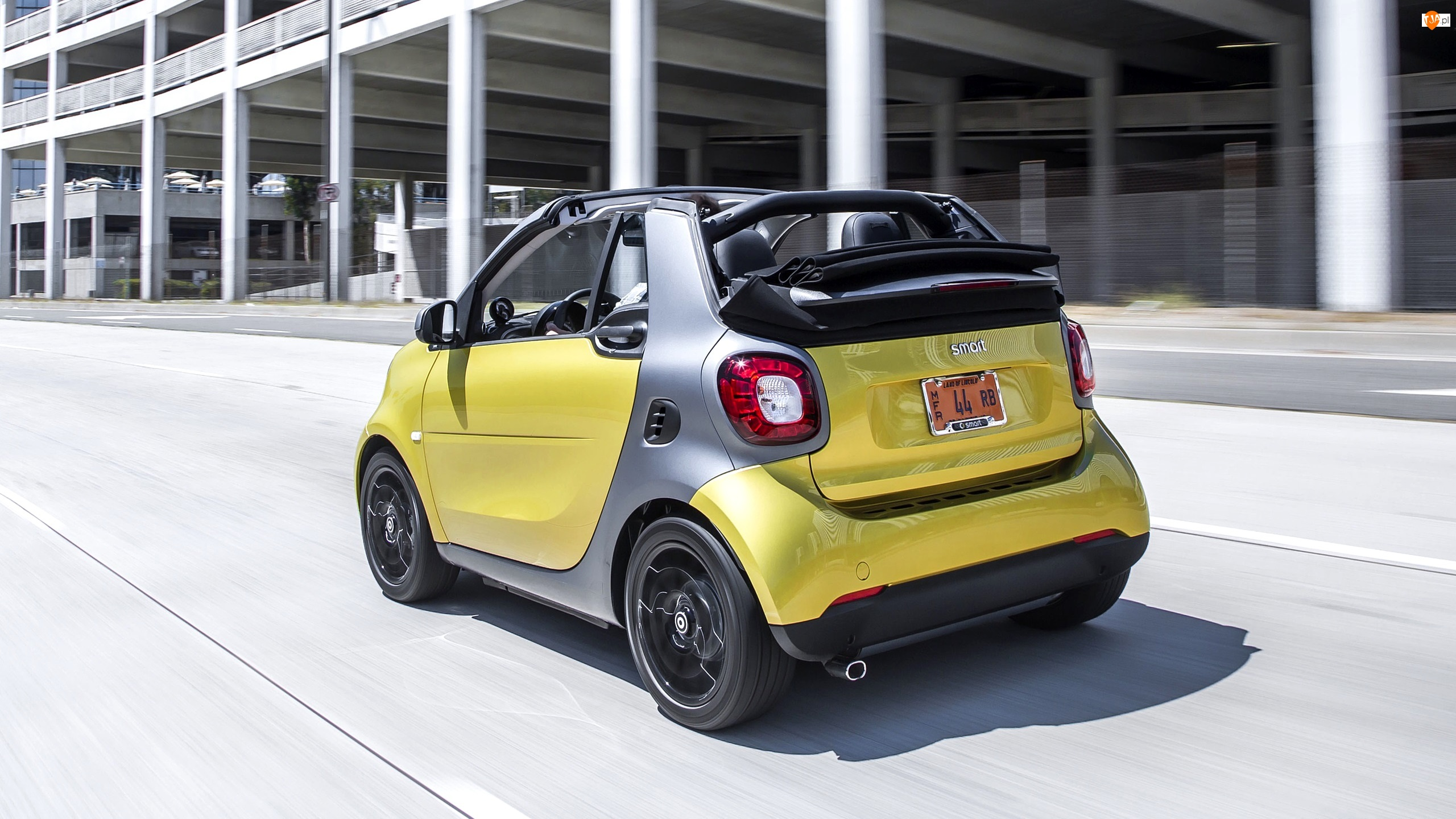 Żółty, Ulica Smart Fortwo, Smart Fortwo Cabrio, 2017