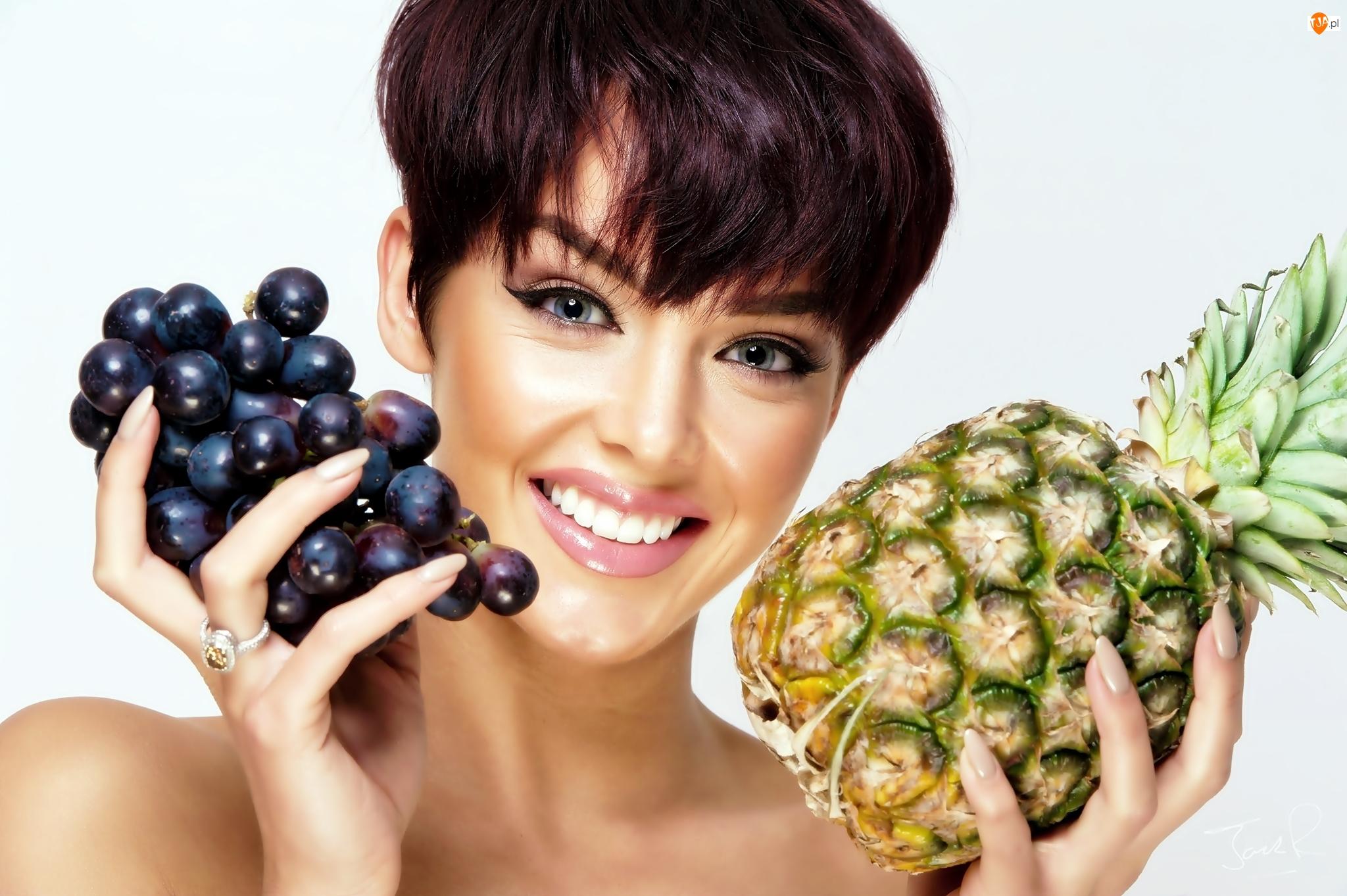 Winogrona, Kobieta, Ananas