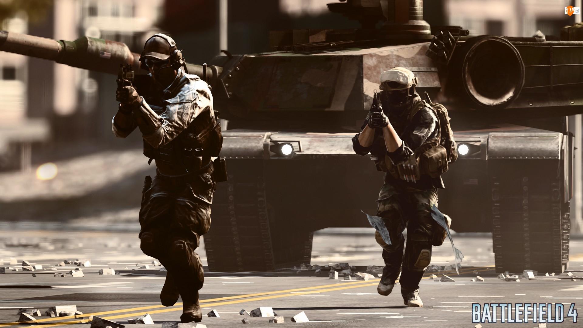 Czołg, Gra, Żołnierze, Battlefield 4, Karabiny