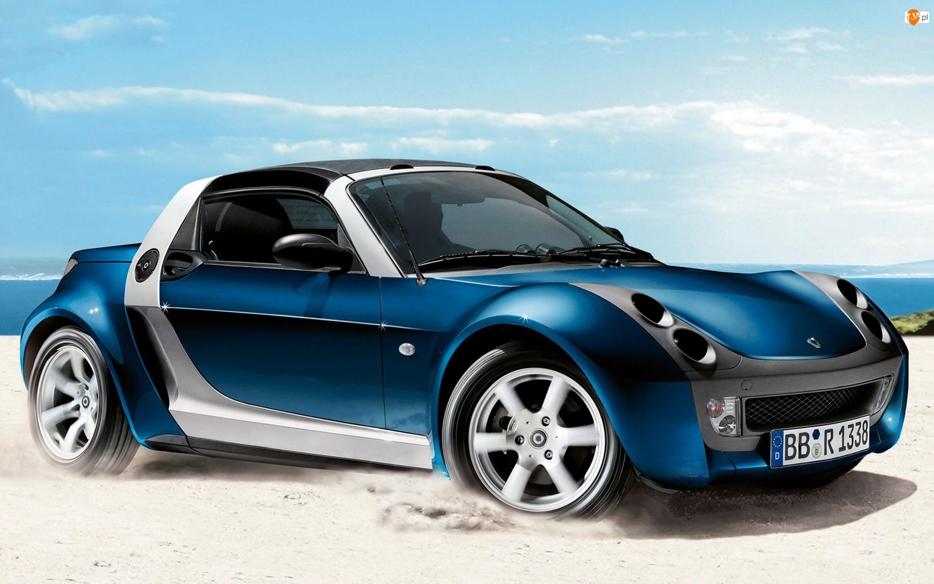 Smart Roadster Bluestar, Morze, 2005, Piasek