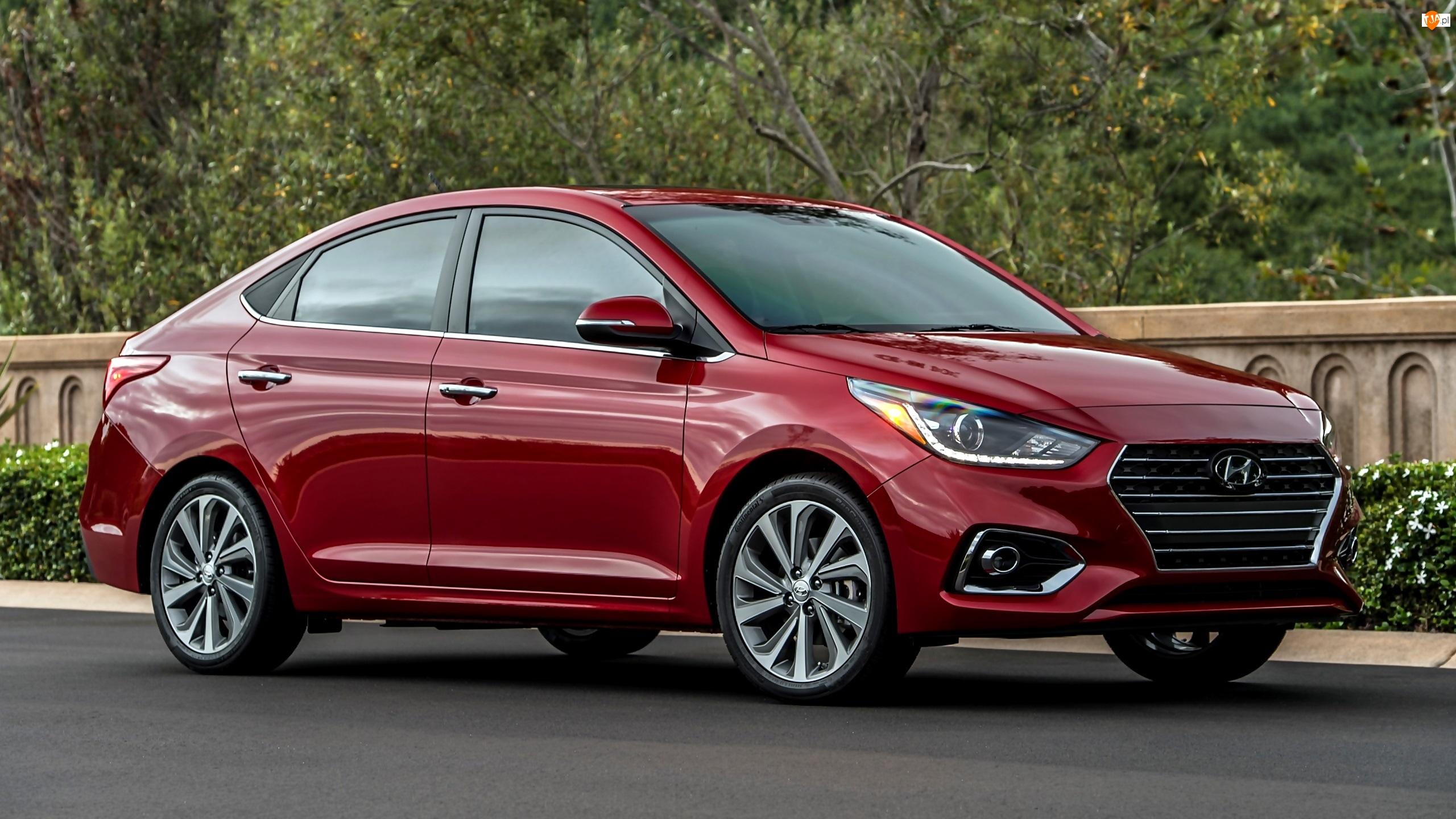 2018, Czerwony, Hyundai Accent