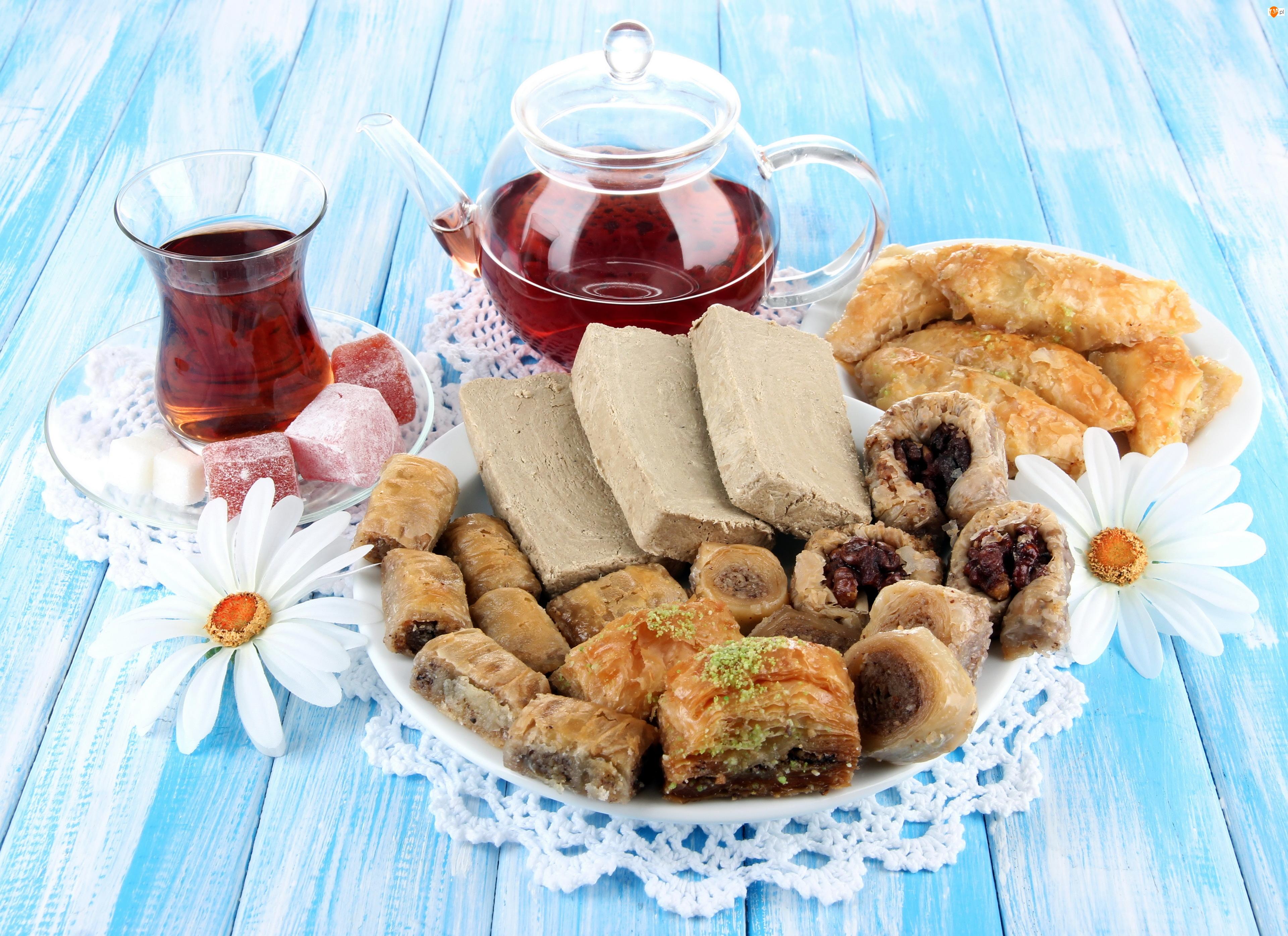 Herbata, Kwiaty, Chałwa, Słodycze