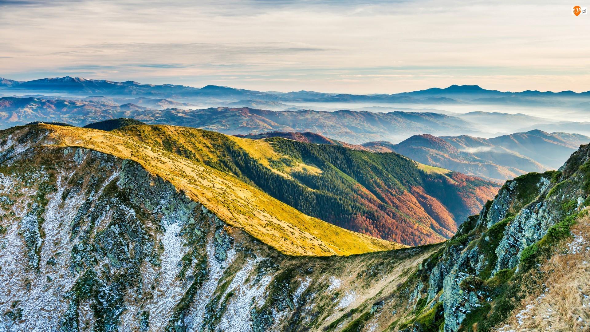 Mgła, Góry, Szczyty