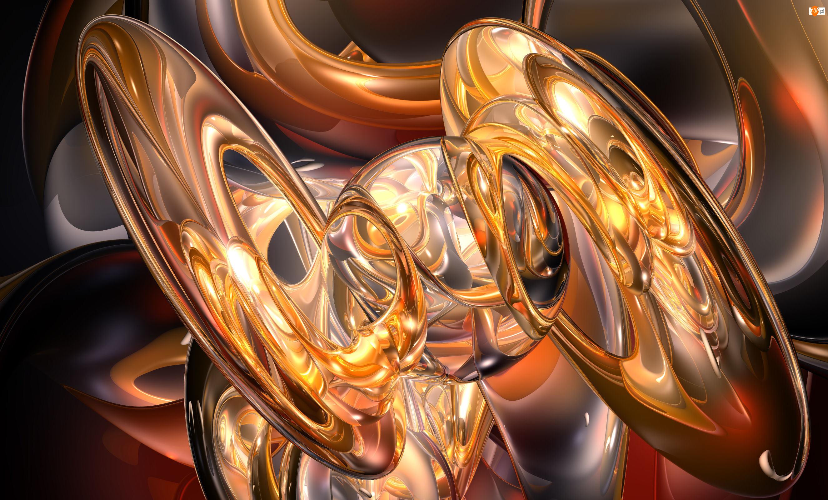 Abstrakcja, Grafika 3D, Rozświetlona