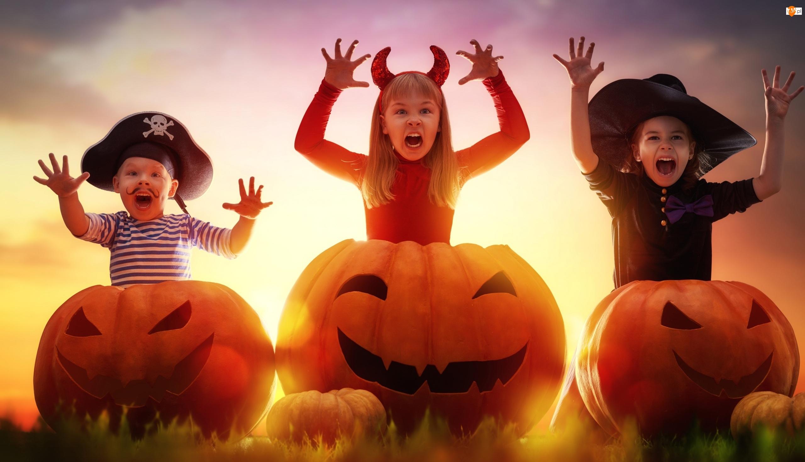 Dynie, Halloween, Dzieci