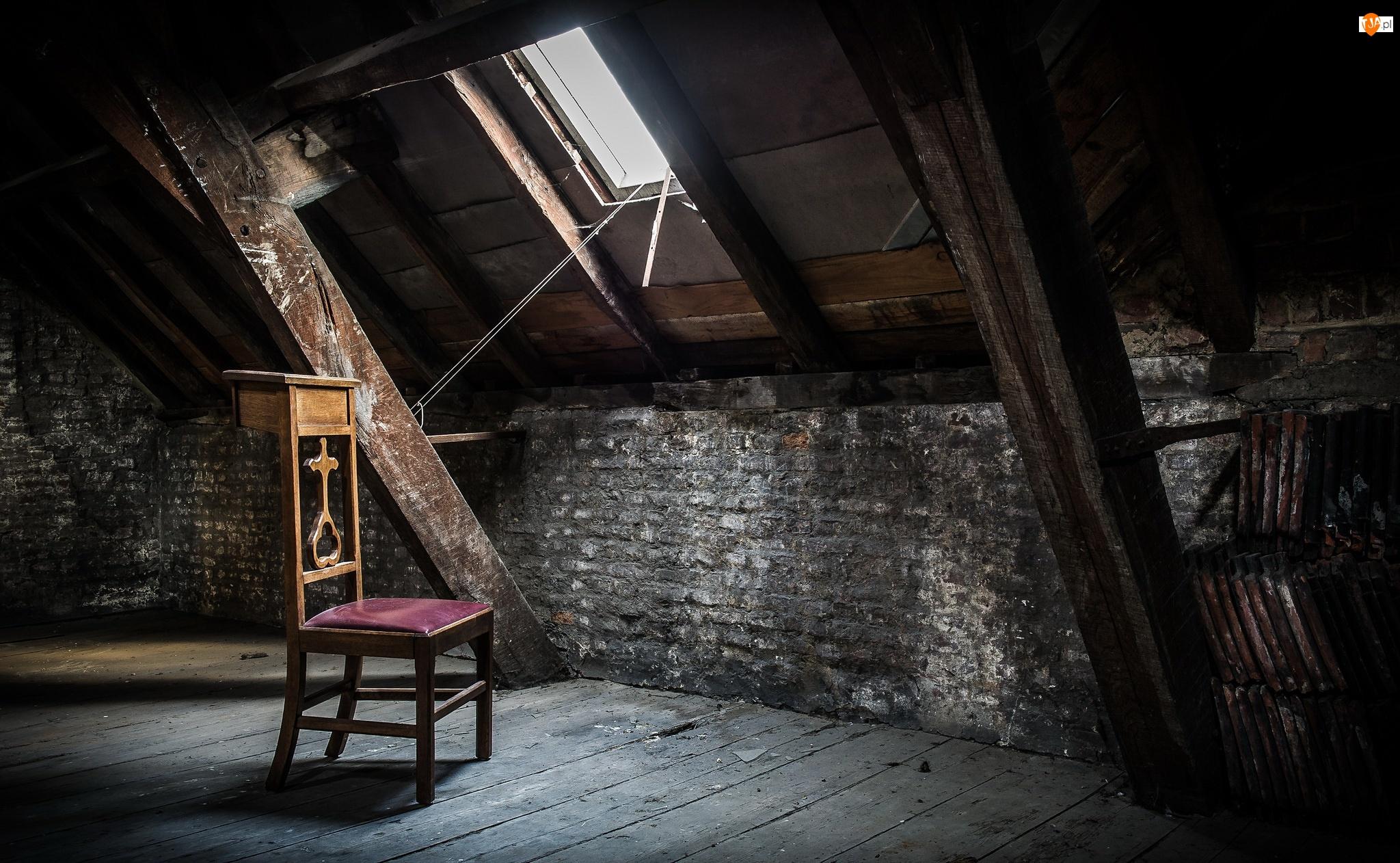 Krzesło, Poddasze, Okno