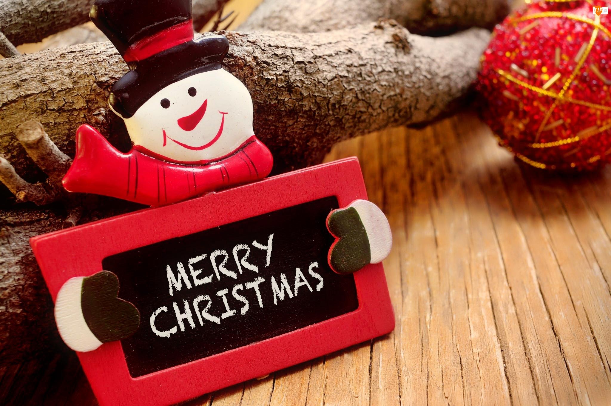 Dekoracja, Bombka, Boże Narodzenie, Bałwanek