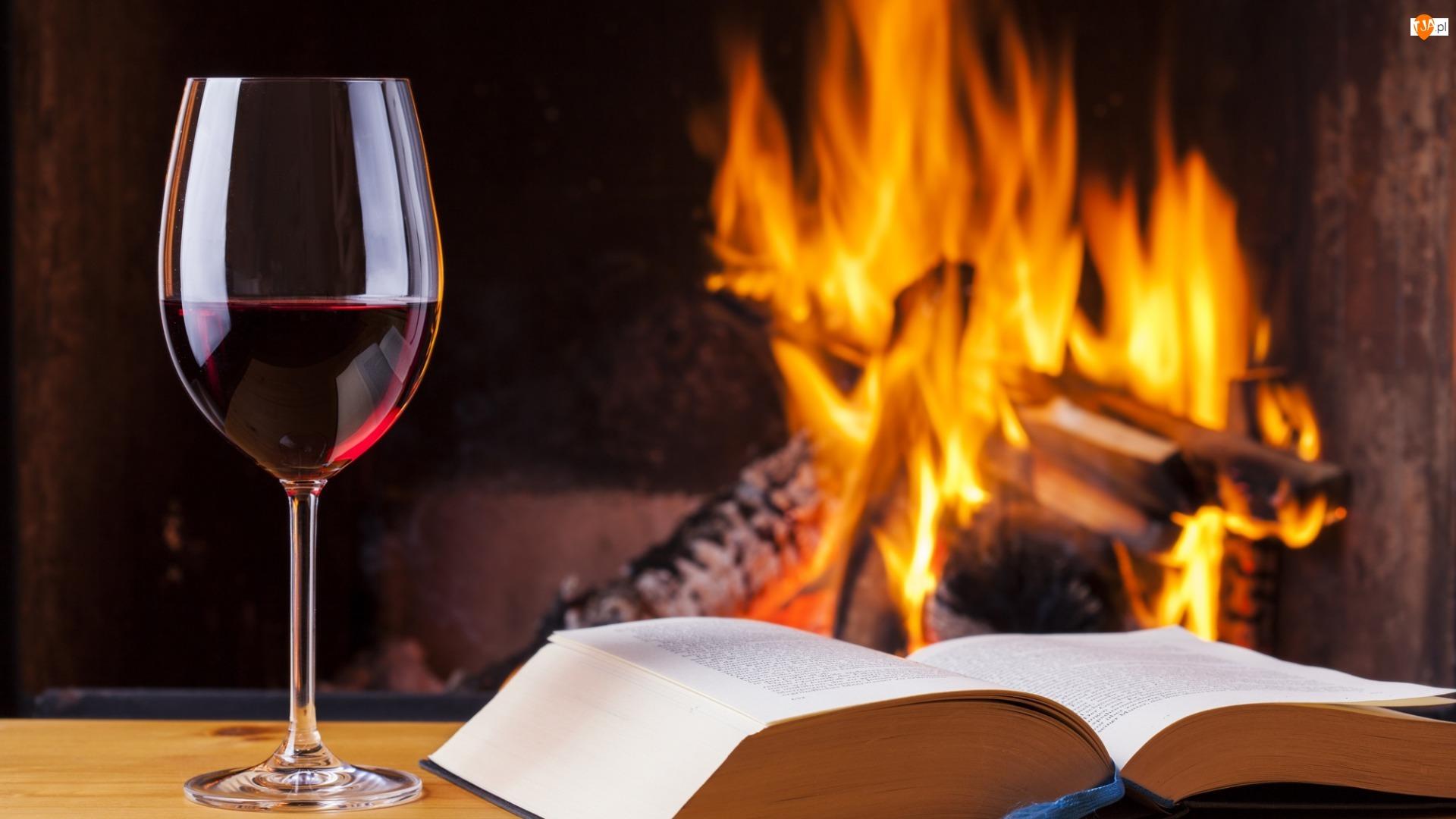 Kieliszek, Ogień, Wino, Książka
