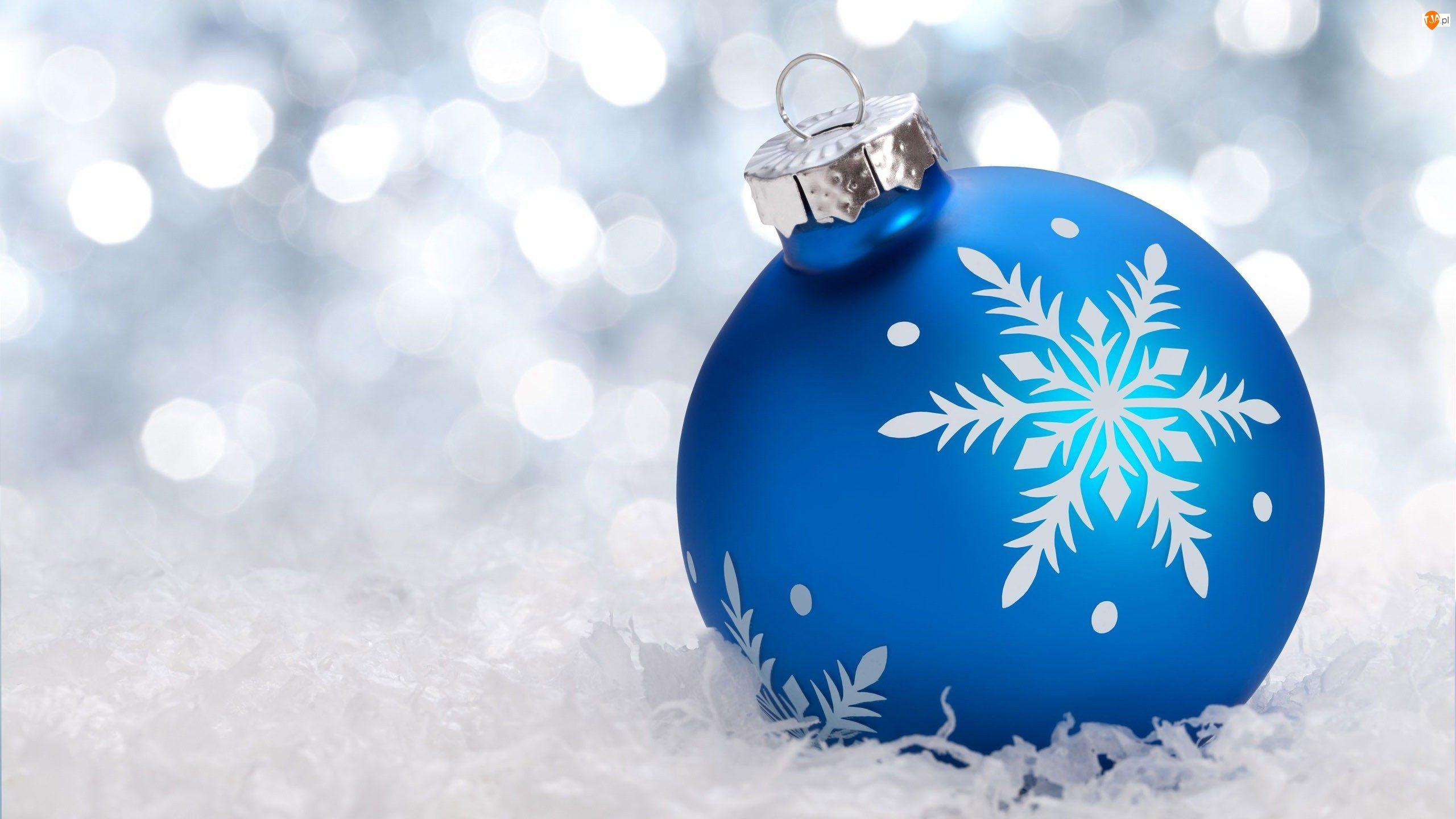 Bombka, Dekoracja, Boże Narodzenie, Świąteczne, Niebieska