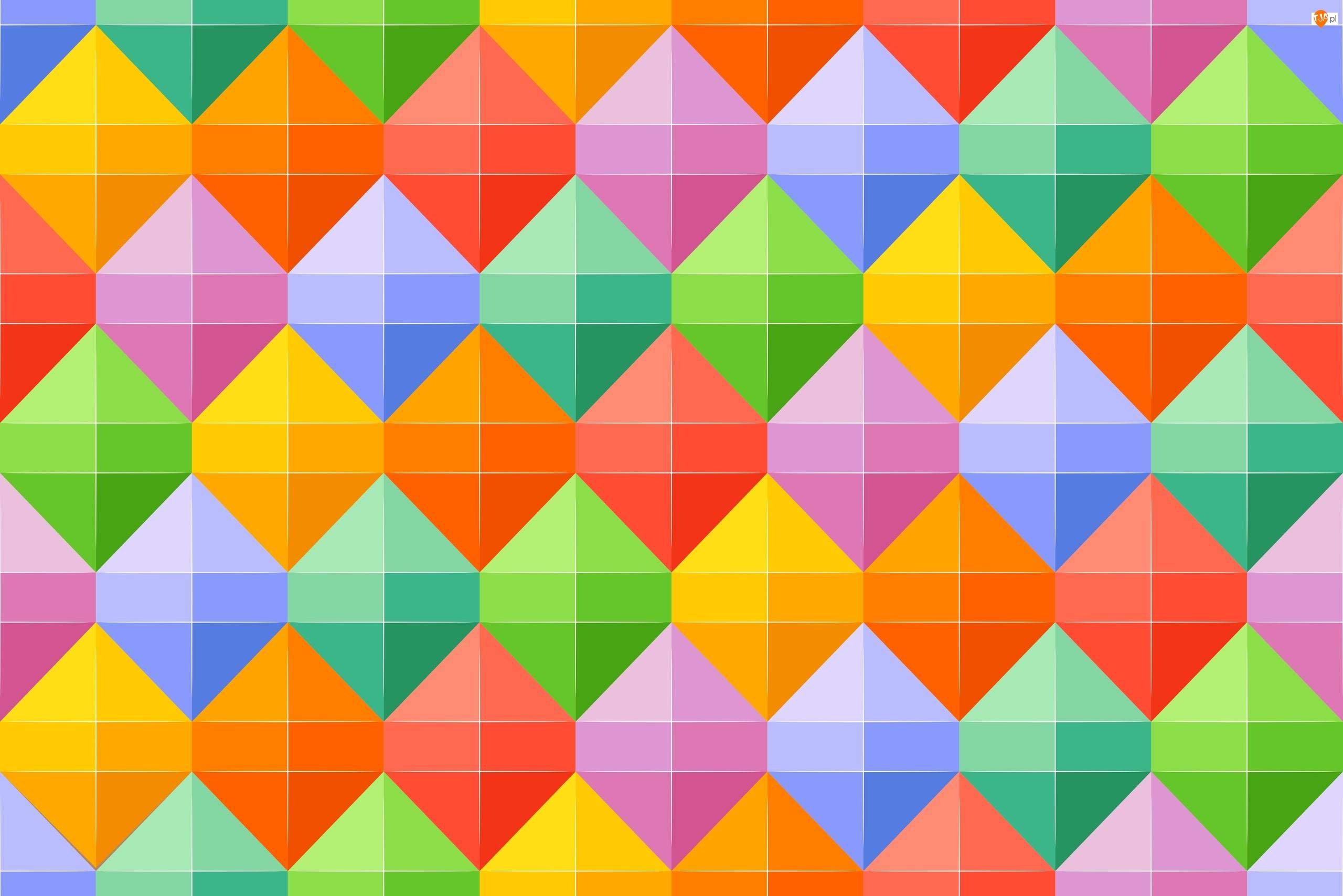 Tekstura, Kolorowe, Geometryczne, Figury, Tło