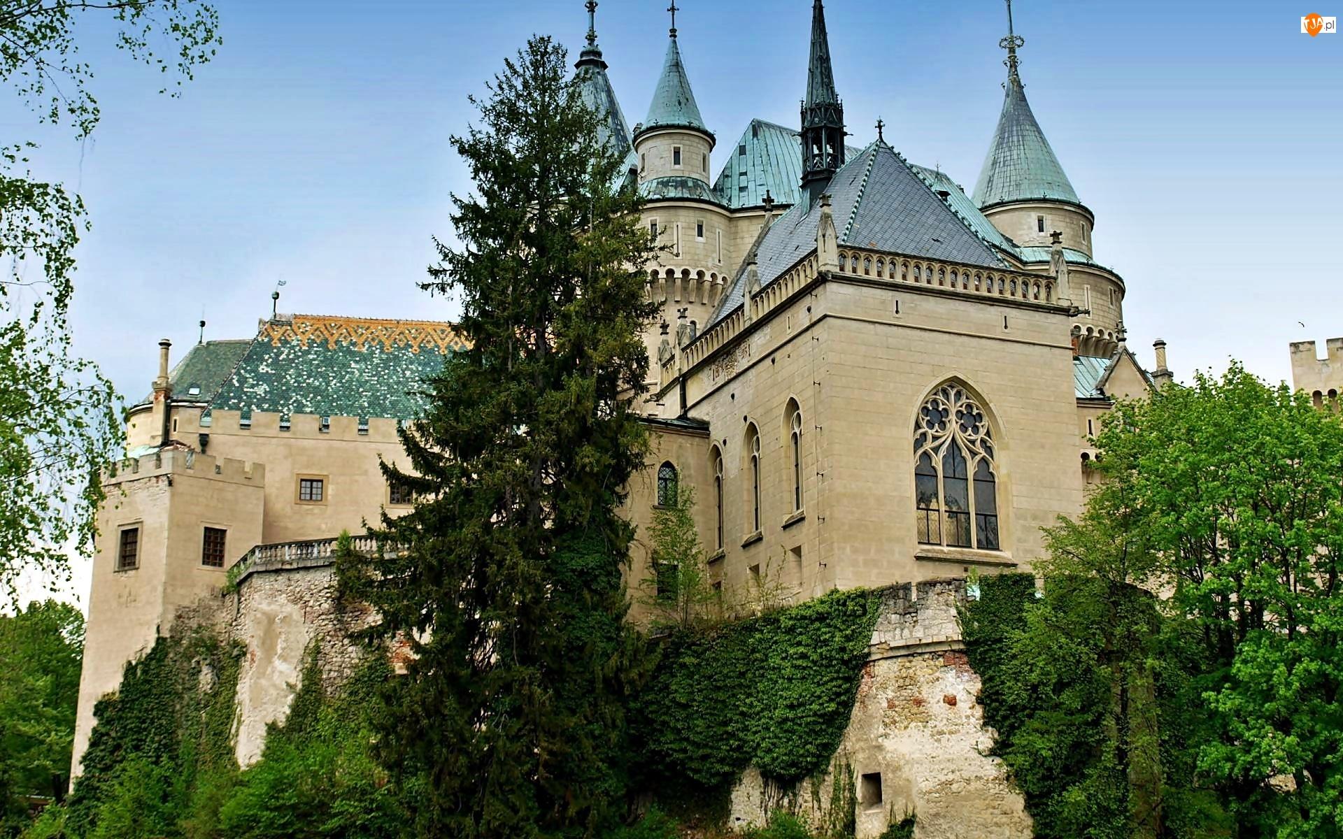 Zamek w Bojnicach, Słowacja, Bojnický zámok, Bojnice