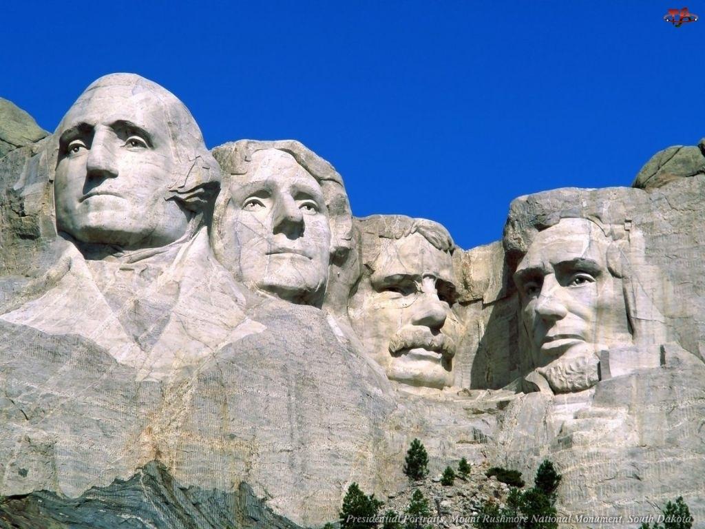 USA, Góra, Twarze, Mount Rushmore, Prezydentów