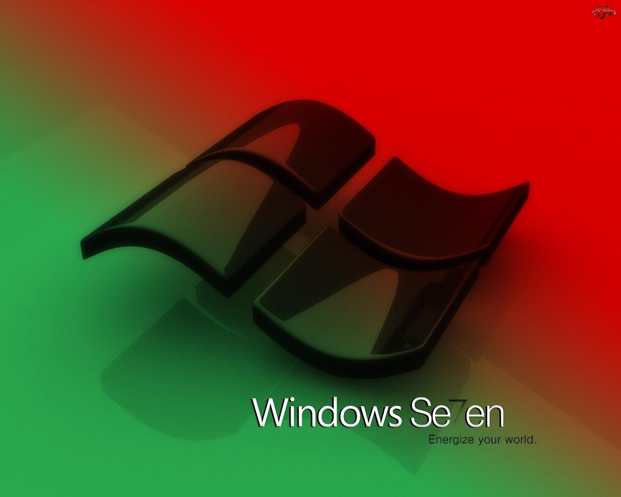 okna windows seven tapety