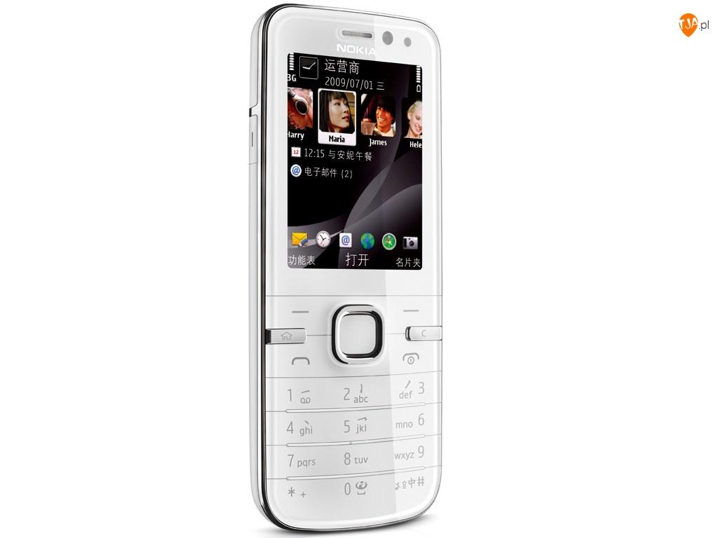 Przód, Nokia 6730, Biała