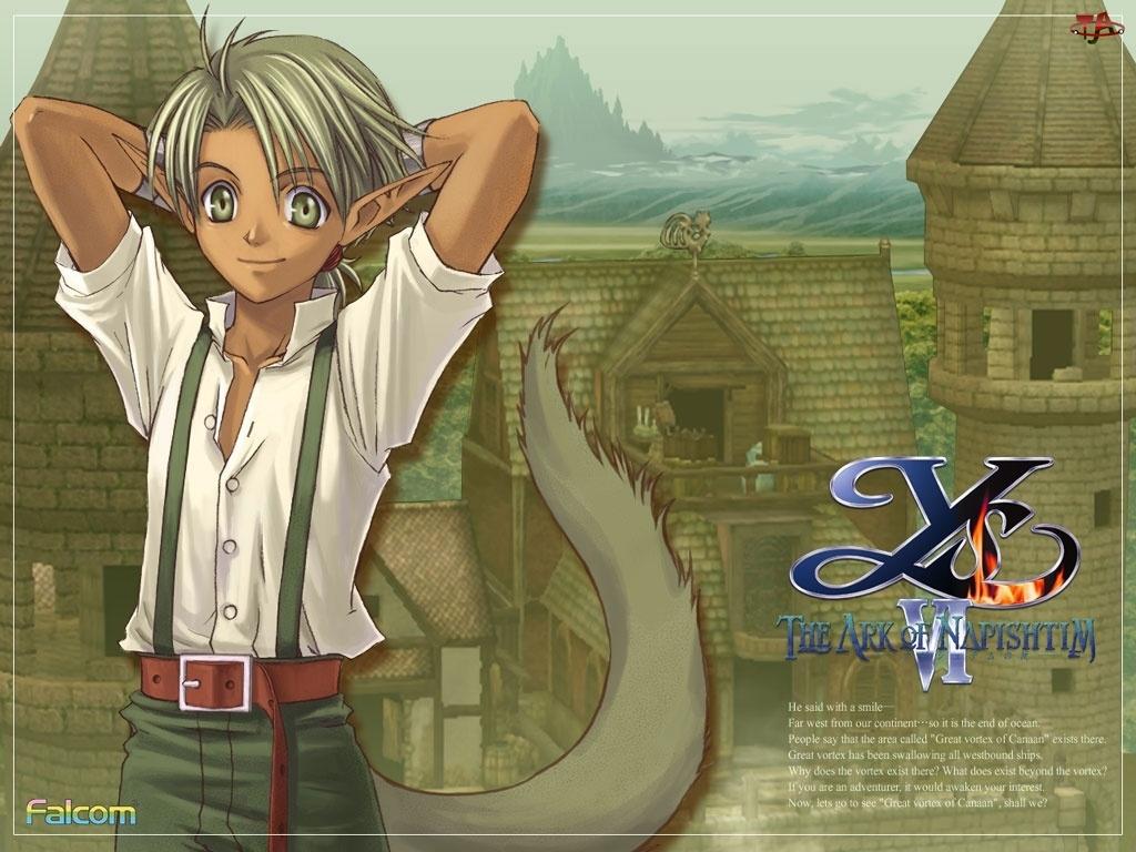 mężczyzna, grafika, Ys Vi The Ark Of Napishtim, manga, postać, elf
