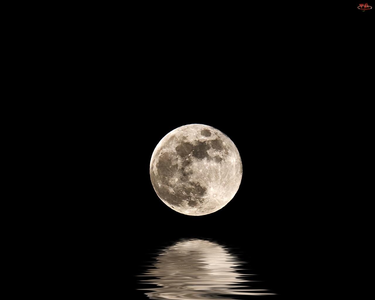 Woda, Księżyc, Odbicie
